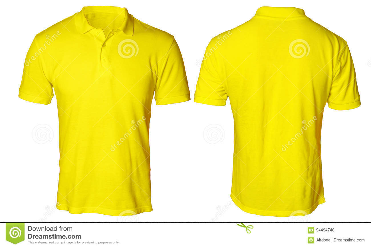 Yellow polo shirt mock up stock photo image of casual for Free polo shirt mockup