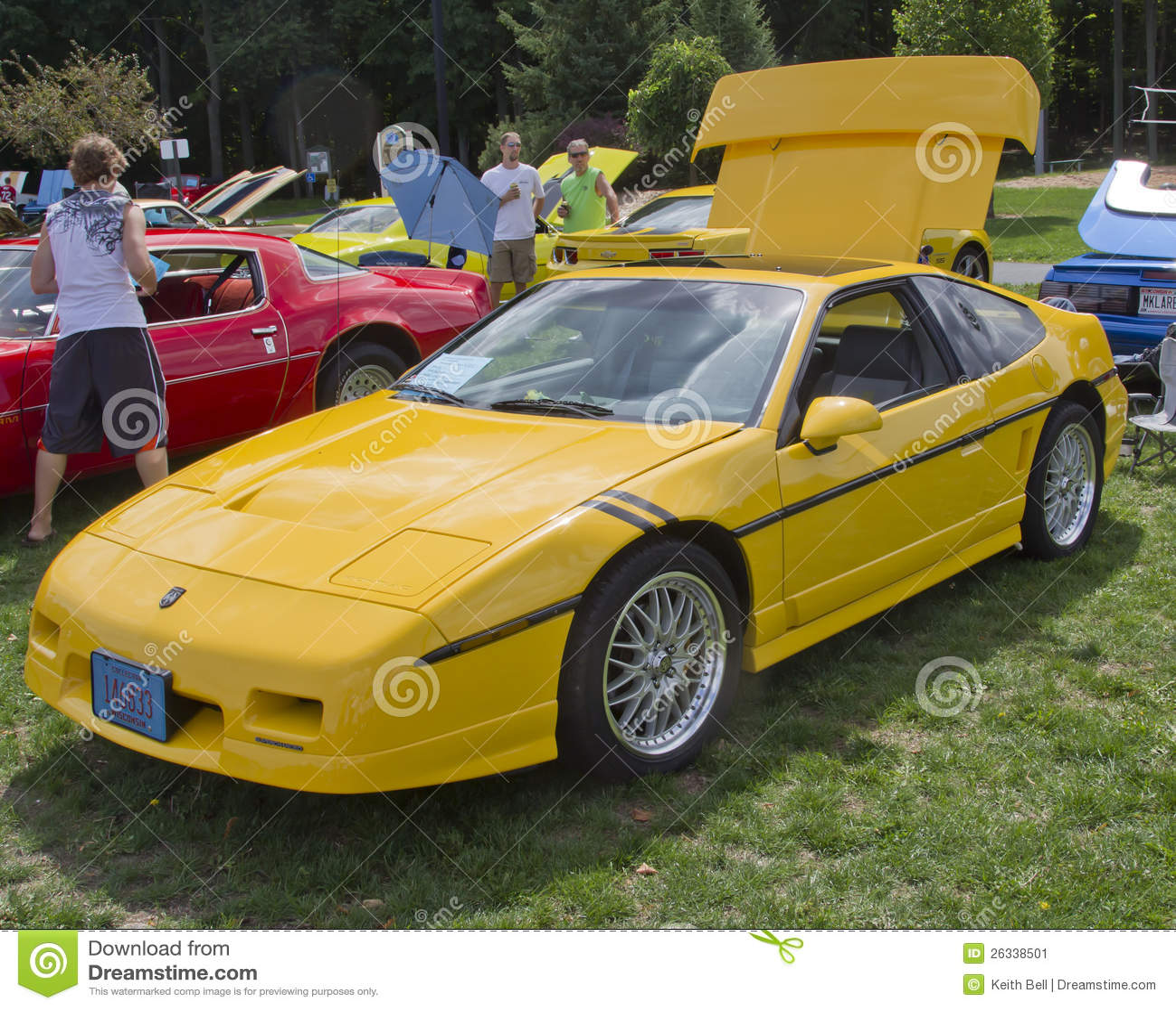 Yellow Pontiac Fiero Editorial Photo
