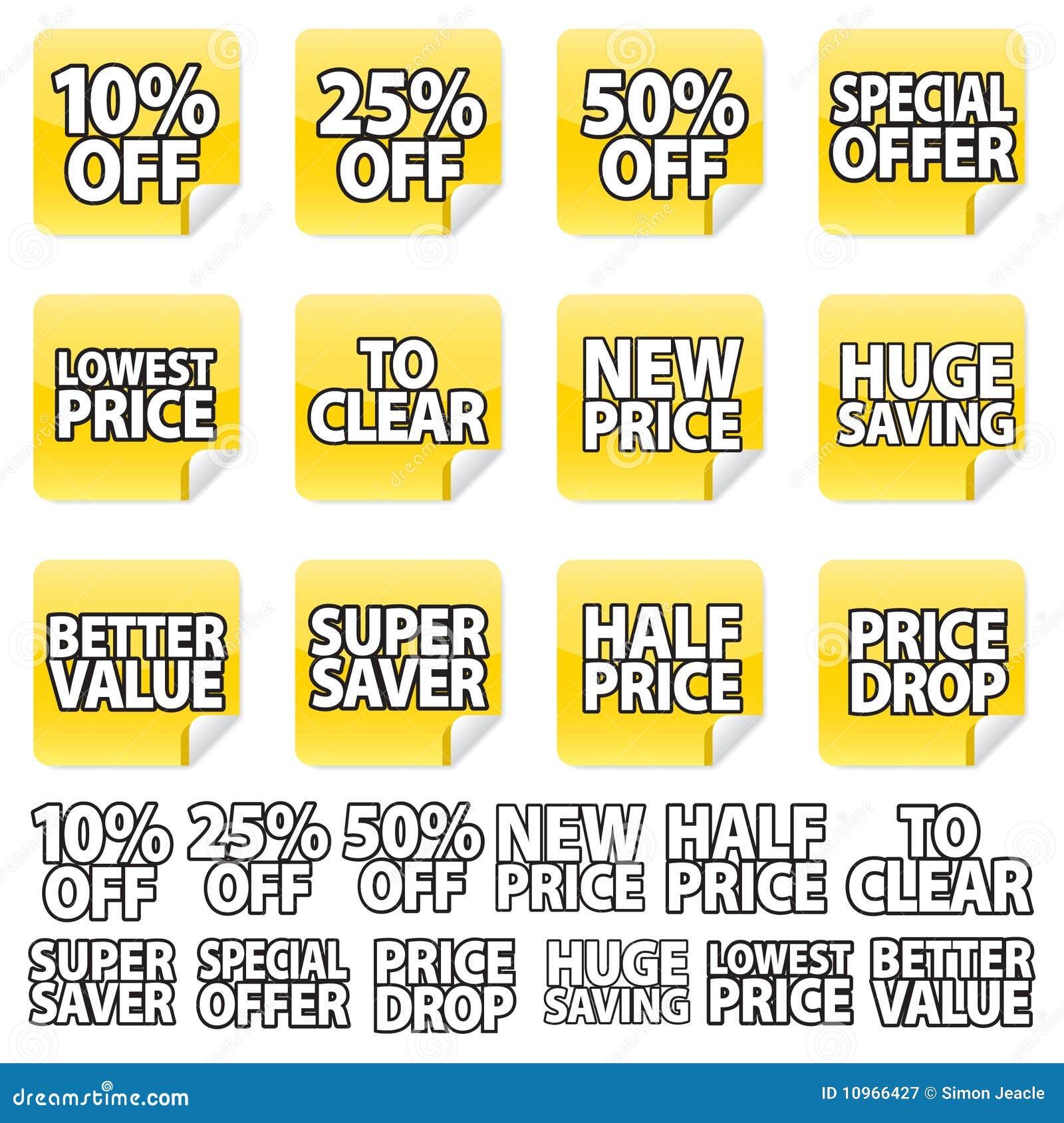 Yellow Price Sticker