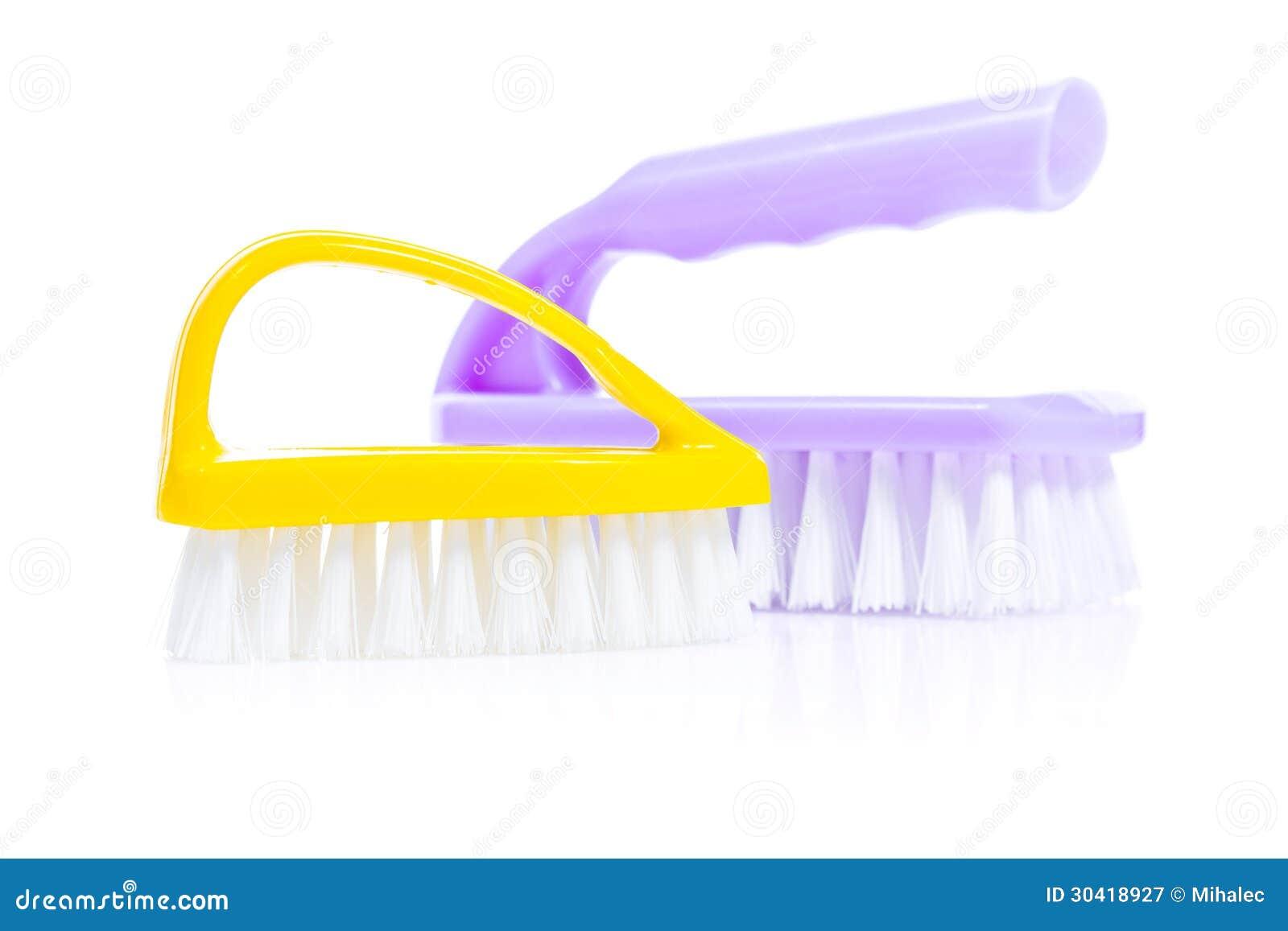 Yellow And Purple Kitchen Brushes Stock Image - Image of dishware ...