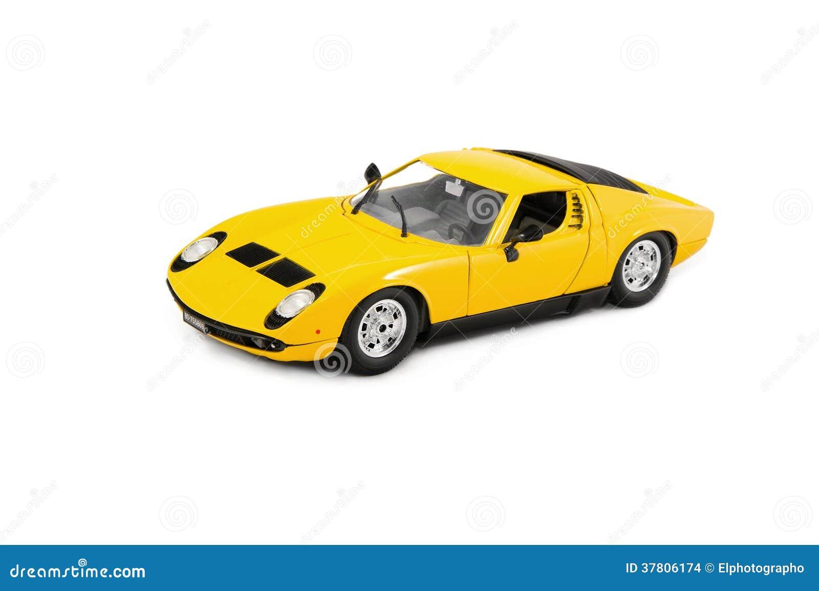 Yellow Racing Toy Car Lamborghini Miura Sport Vehicle Automobile ...