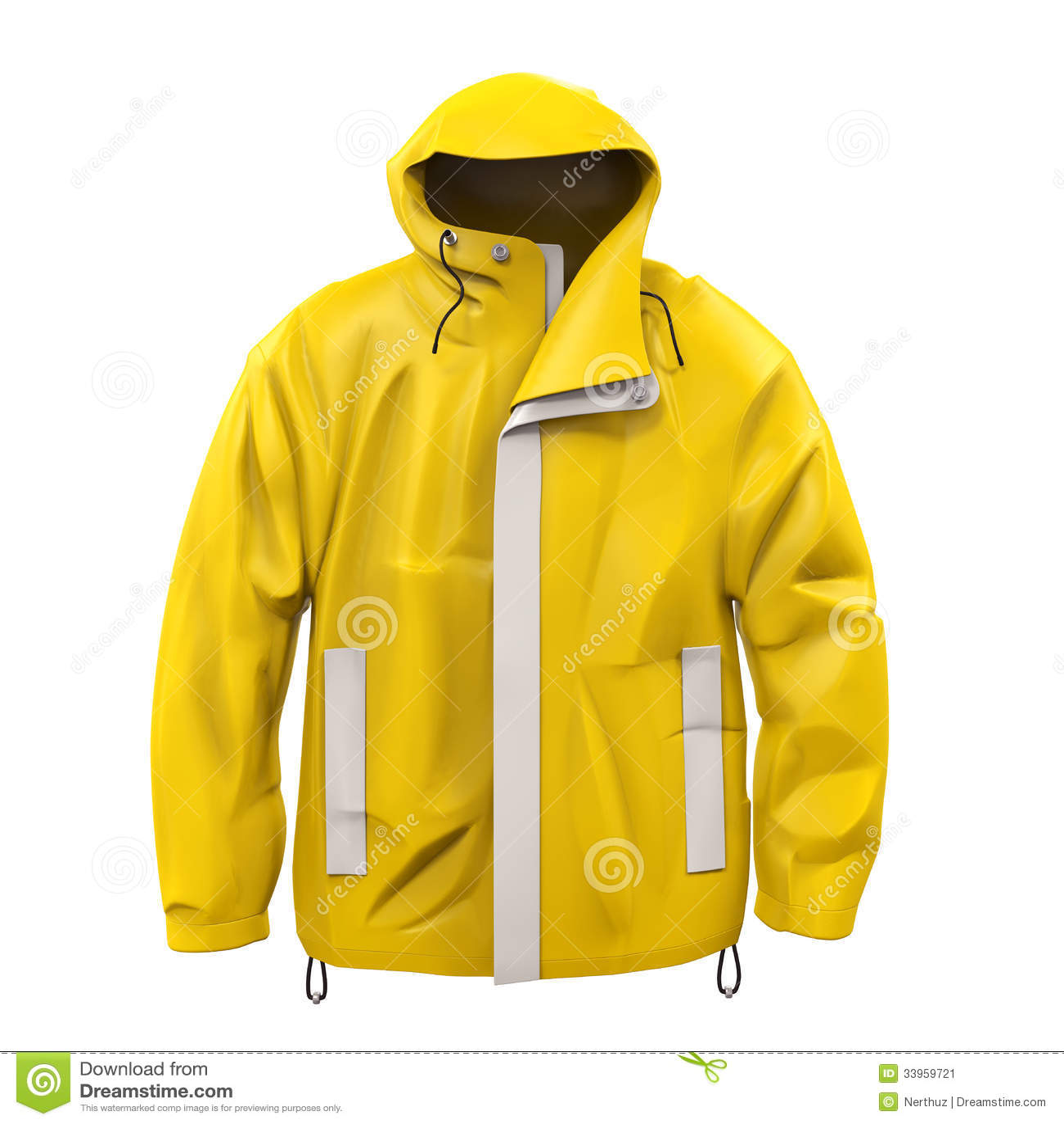 Rain Coat Clip Art Yellow Rain Coat Stock...