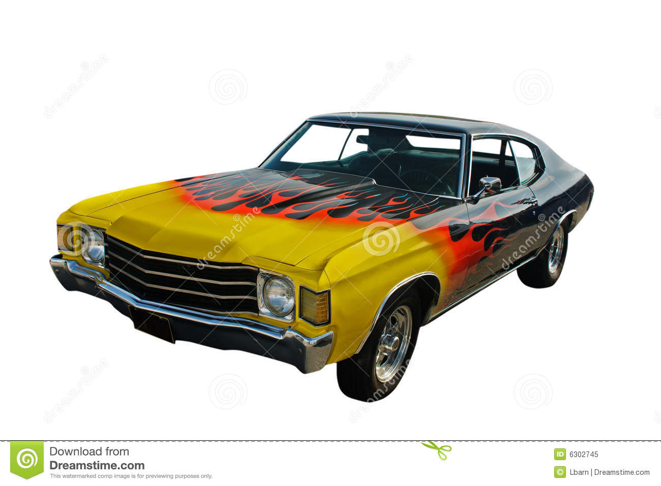 Yellow red flames hotrod stock image. Image of retro, flames - 6302745