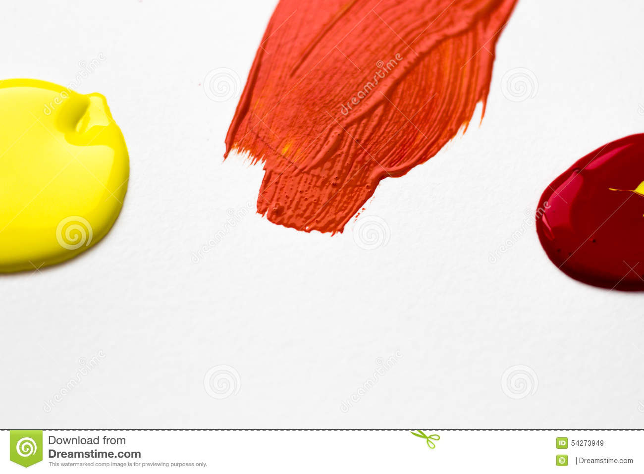 Yellow And Red Make Orange Stock Image Image Of Paint