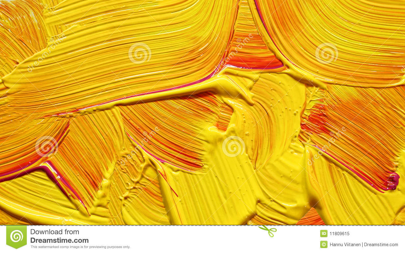 Yellow Red Paint Impasto Royalty Free Stock Photo Image