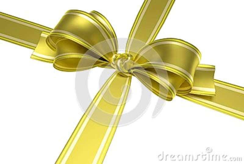 Yellow ribbon and bow