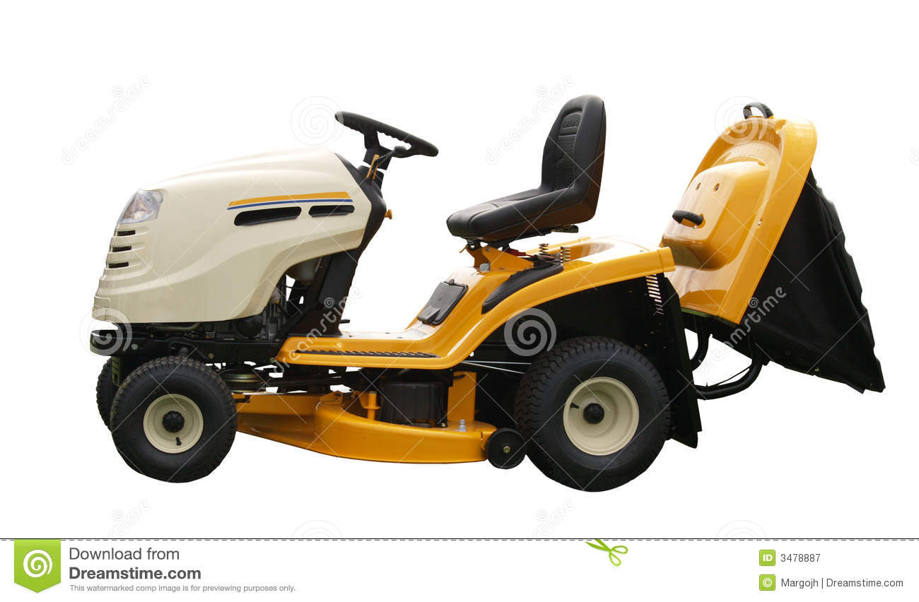 Yellow Ride-on Mower Royalty Free Stock Photography ...