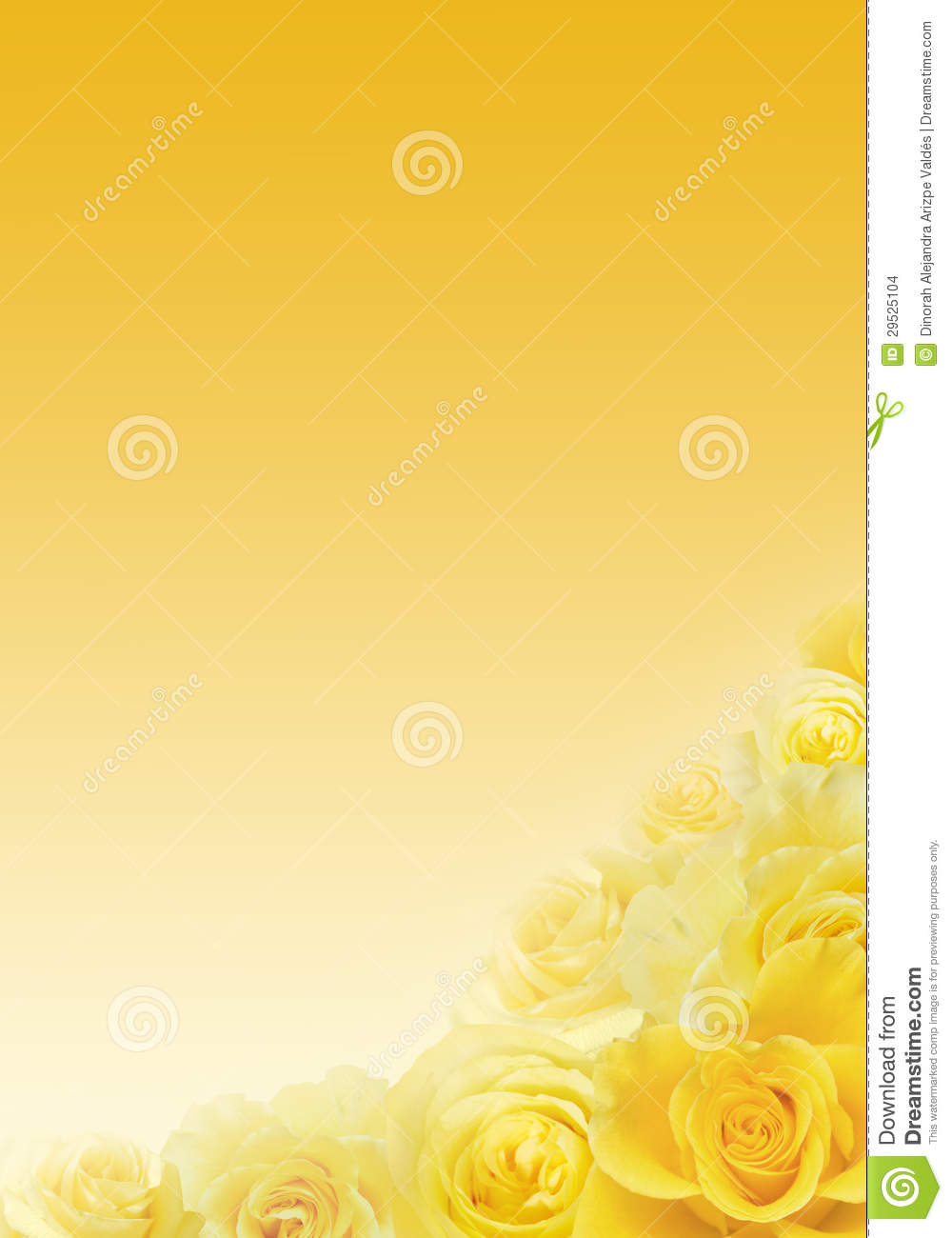 Sweet yellow roses on faded yellow background.