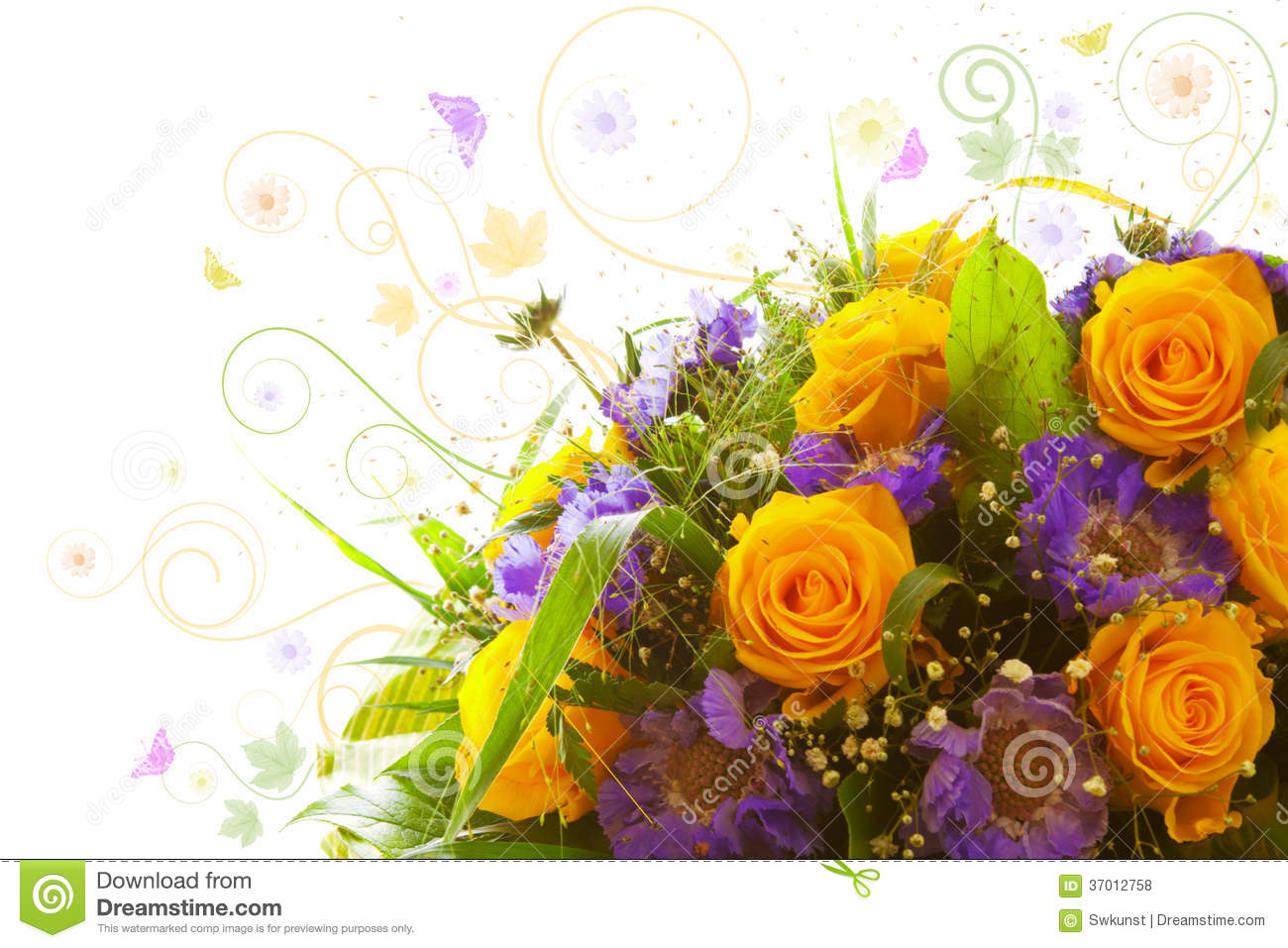 Yellow Roses Bouquet Royalty Free Stock Photos Image