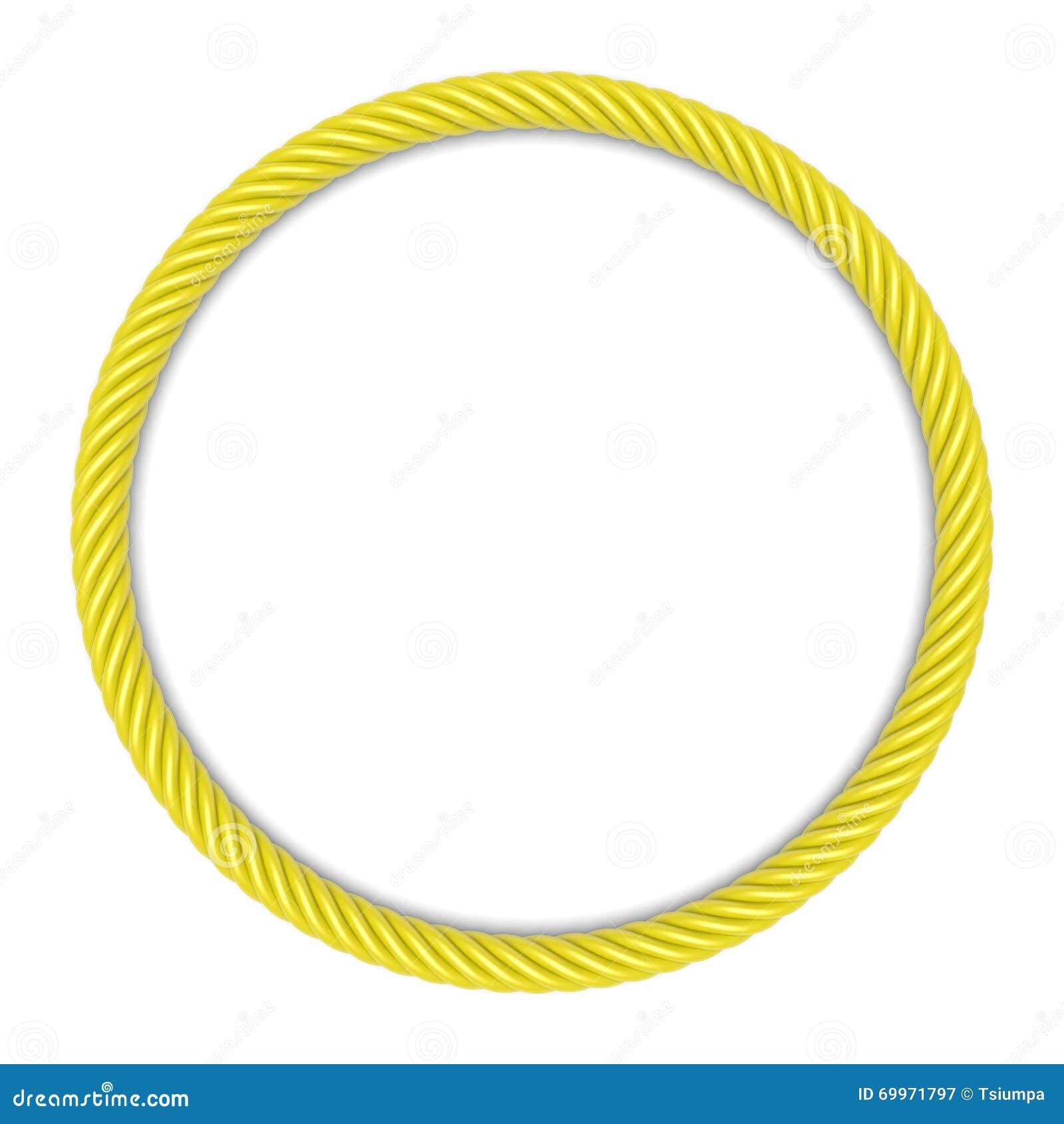 Yellow Round Rope Frame Stock Illustration Image 69971797