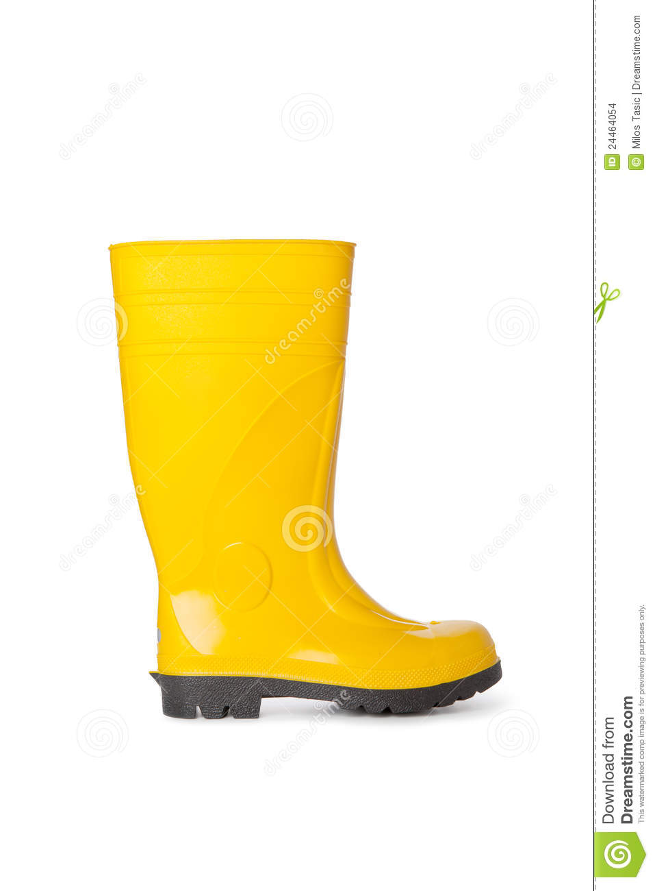 Yellow Rubber Boot Stock Images Image 24464054