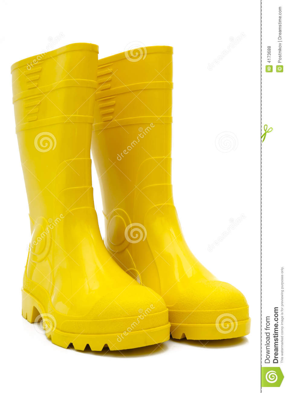 Yellow Rubber Boots Isolated Stock Photo Image Of Tall