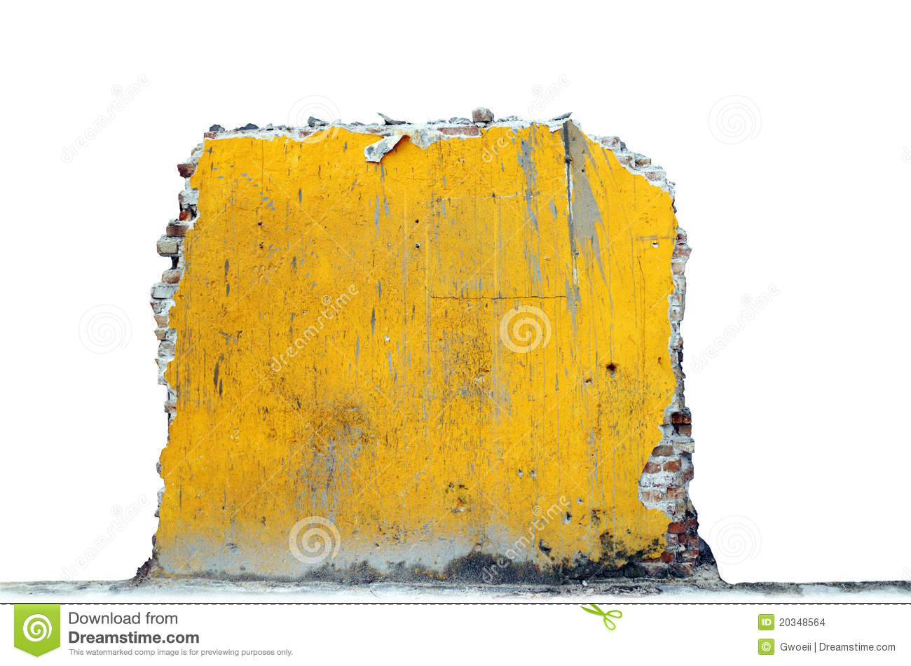 Yellow ruin and rubble.