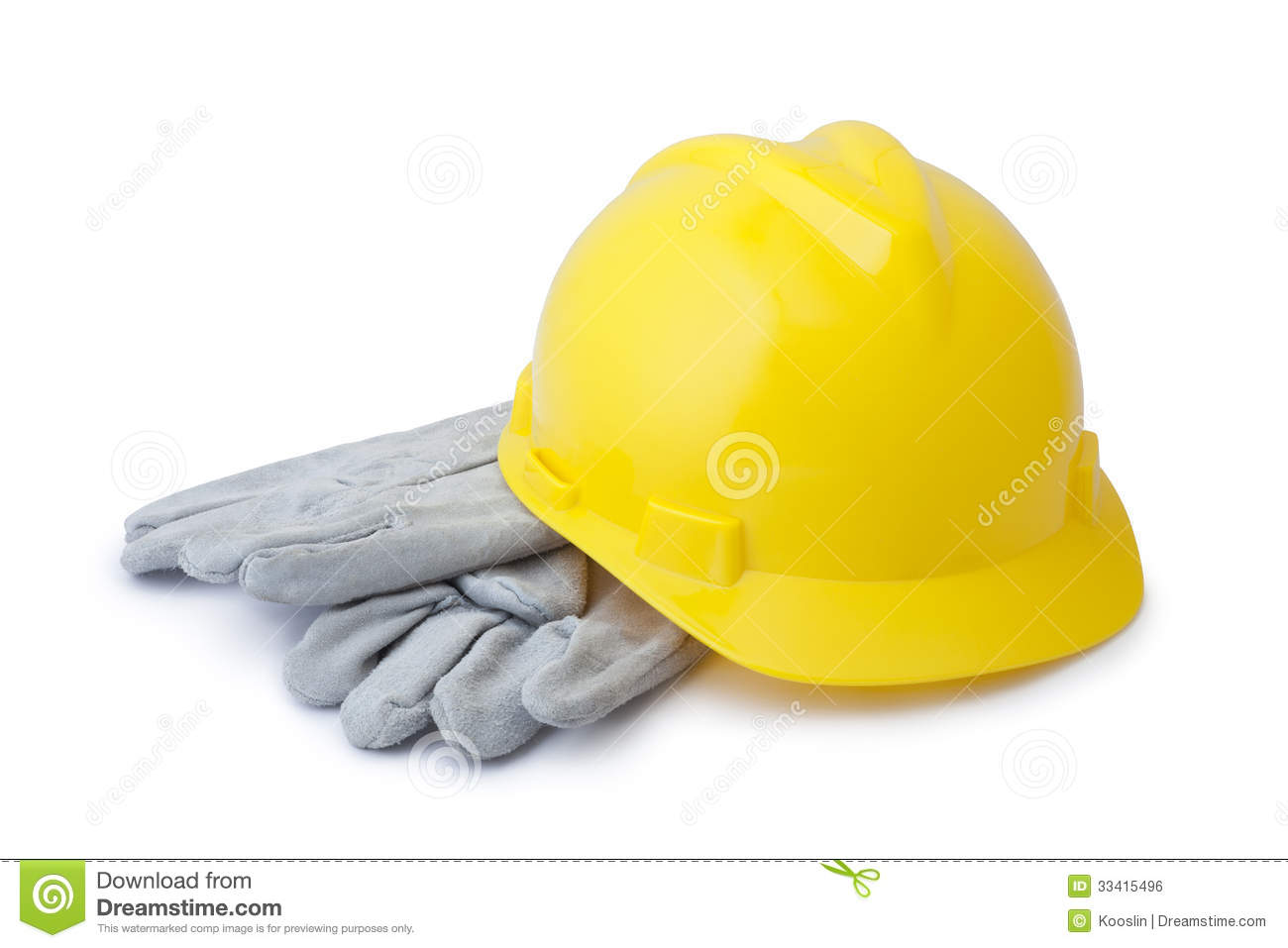 Yellow Safety Helmet And Gloves Royalty Free Stock Image - Image ...