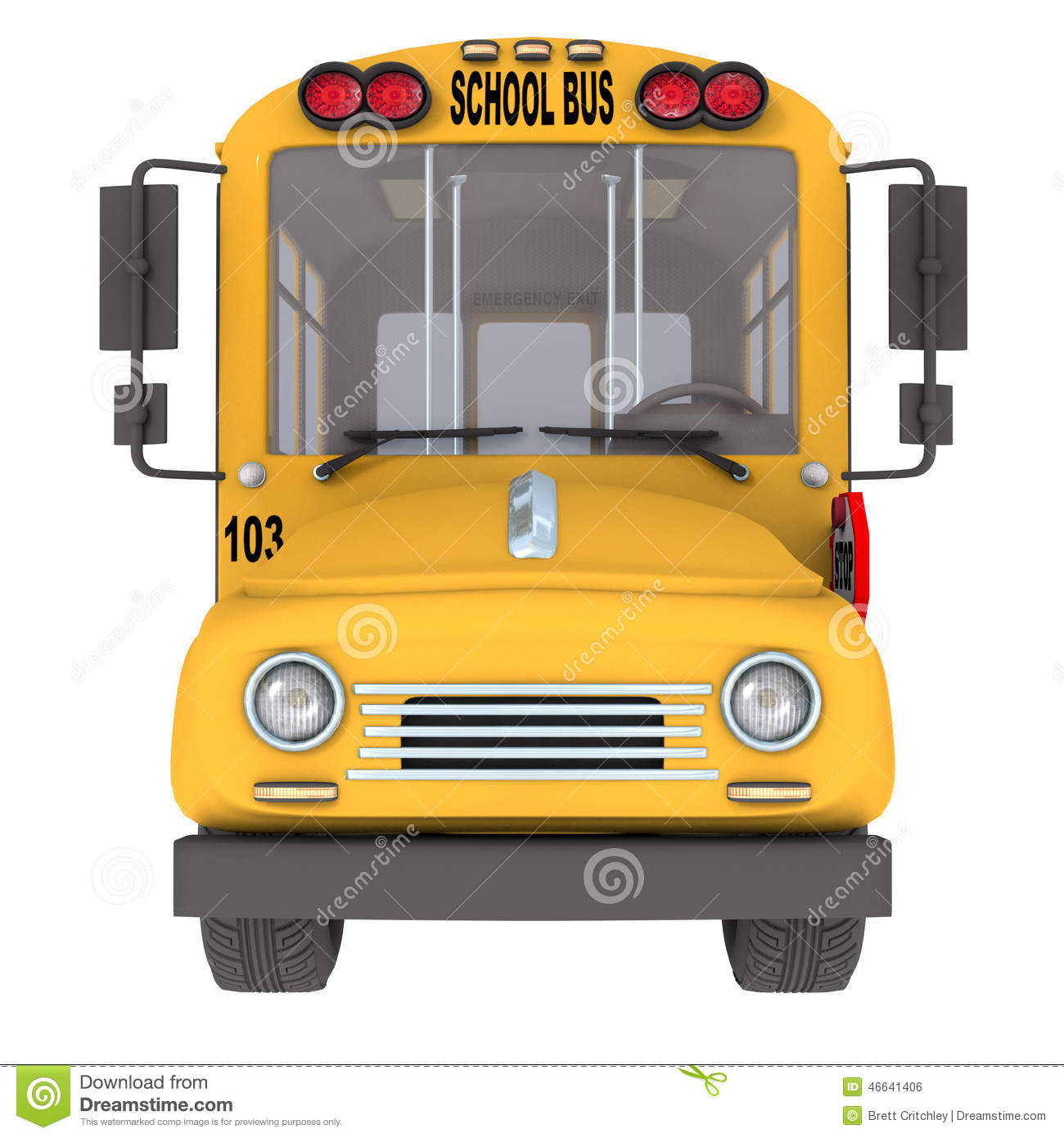Yellow School Bus Stock Illustration - Image: 46641406