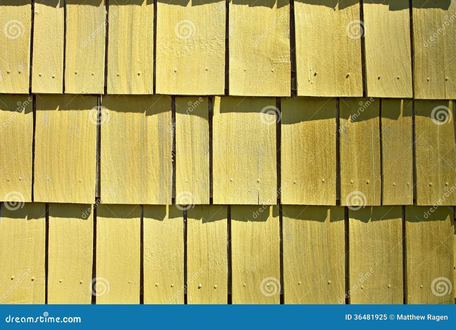 Exterior Wall Shingles : Yellow shingle pattern royalty free stock photo image