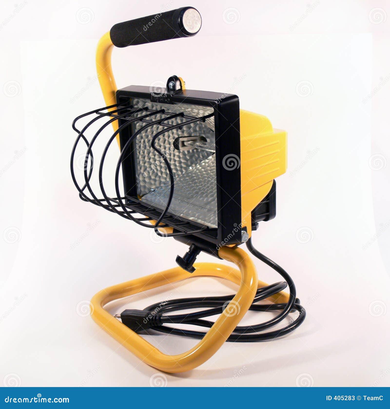 Yellow Shop Light Stock Image. Image Of Metal, Background