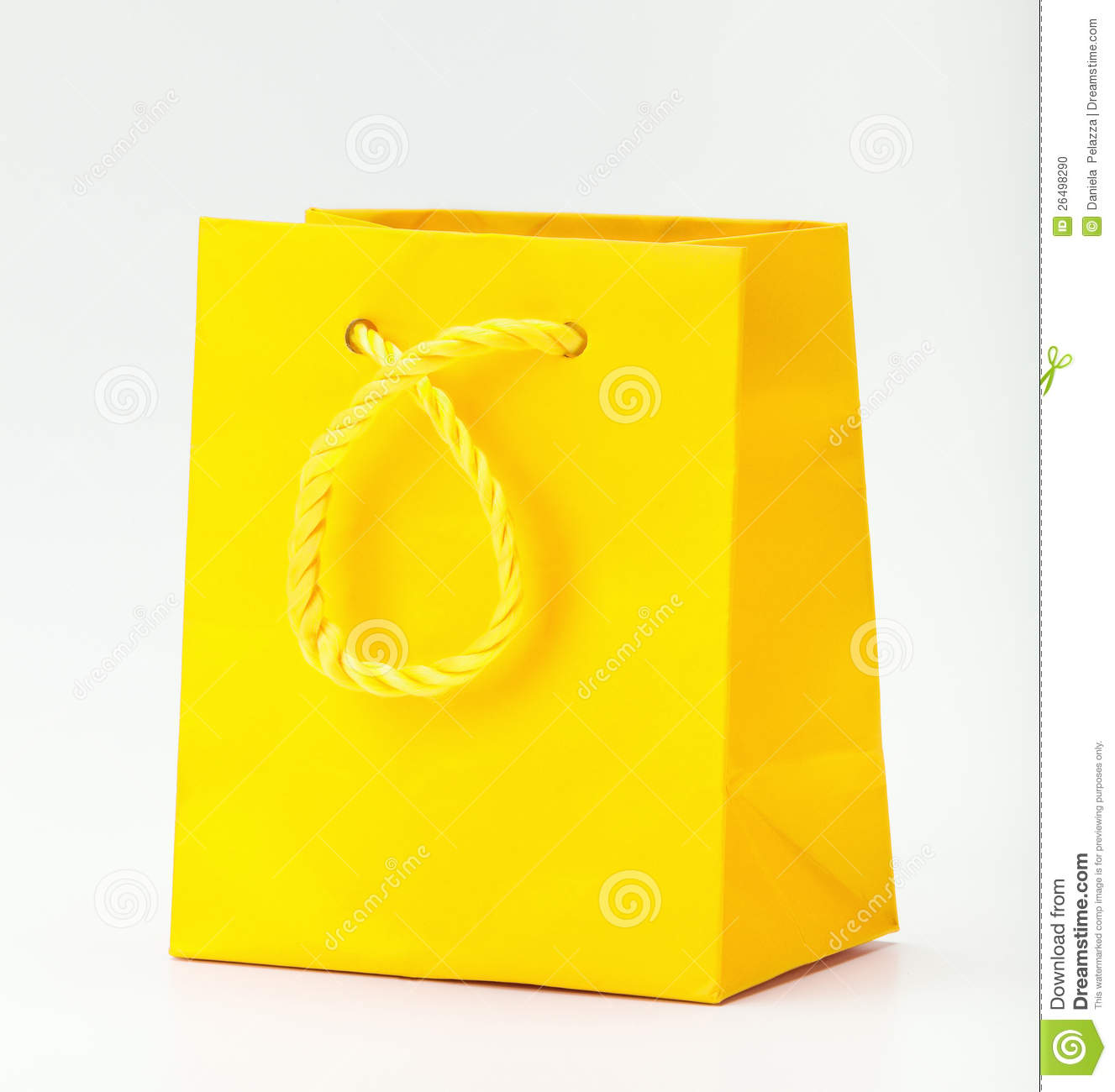 Yellow Shopping Bag. Stock Photo - Image: 26498290