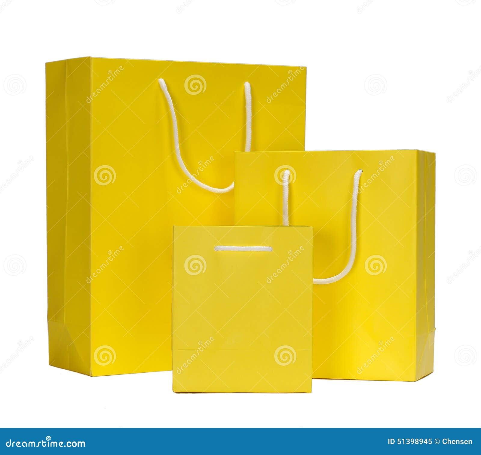 Yellow Shopping Bag Gift Bag Stock Photo Image 51398945