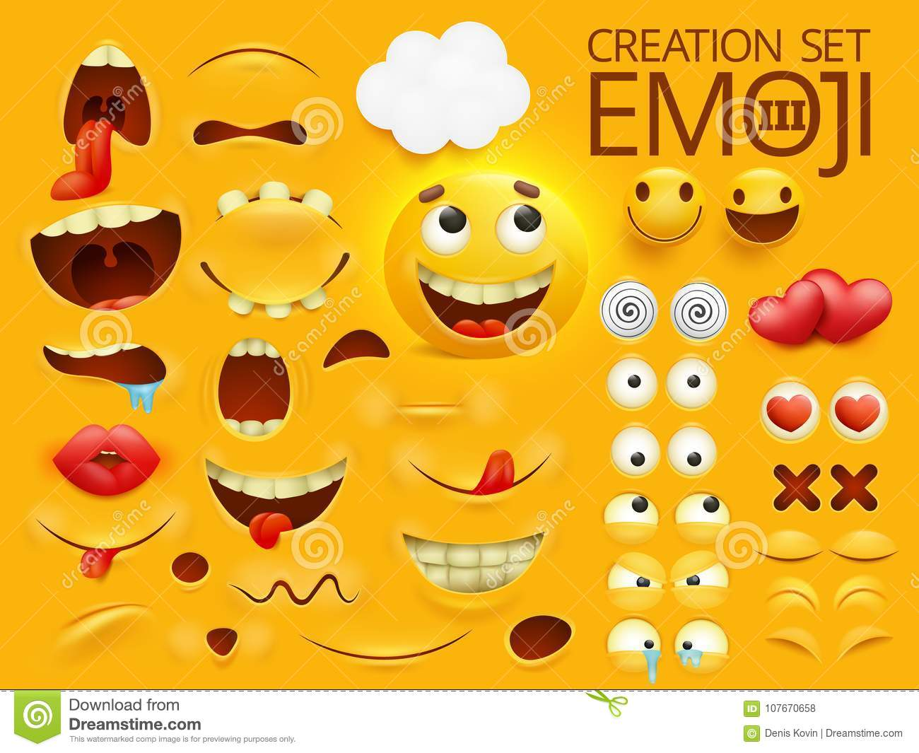 yellow smiley face emoji character for your scenes template emotion