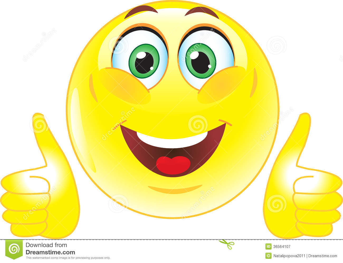 Yellow Smiley Shows That All Is Well Royalty Free Stock