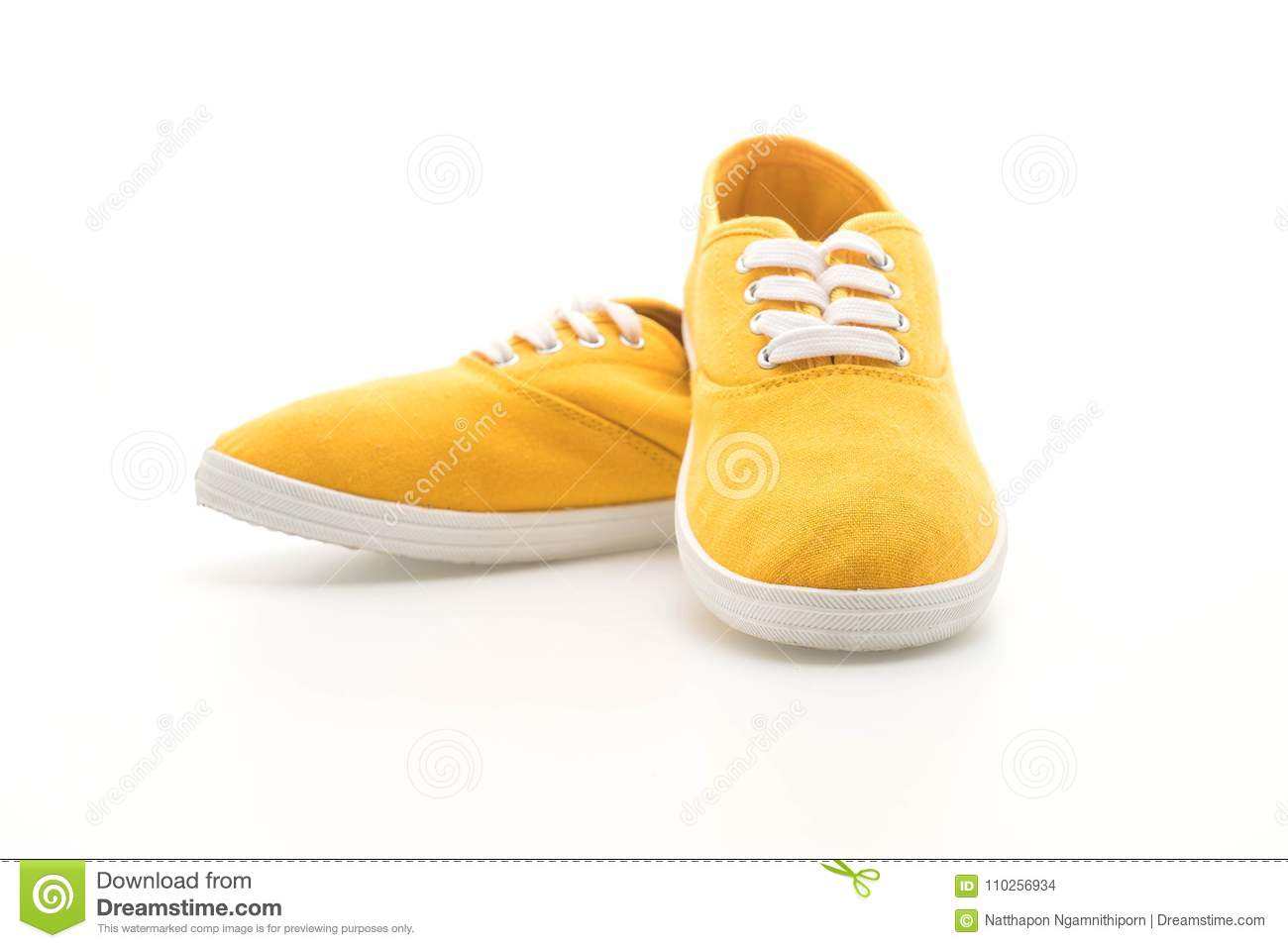 f1dfff7c67cd58 Yellow Sneakers On White Background Stock Photo - Image of style ...