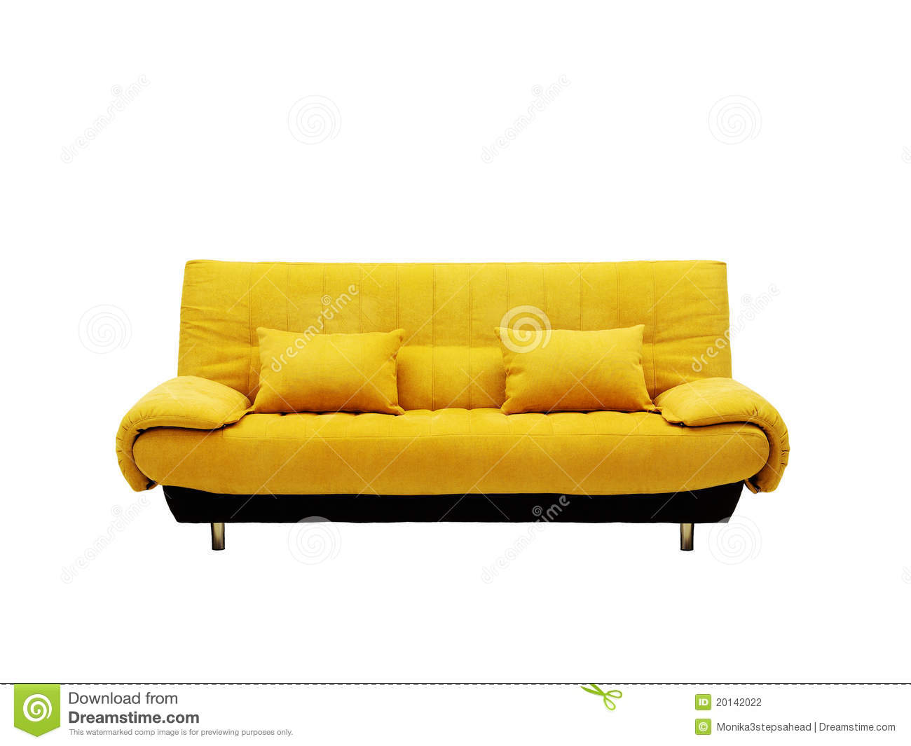 yellow sofa stock photography image 20142022. Black Bedroom Furniture Sets. Home Design Ideas