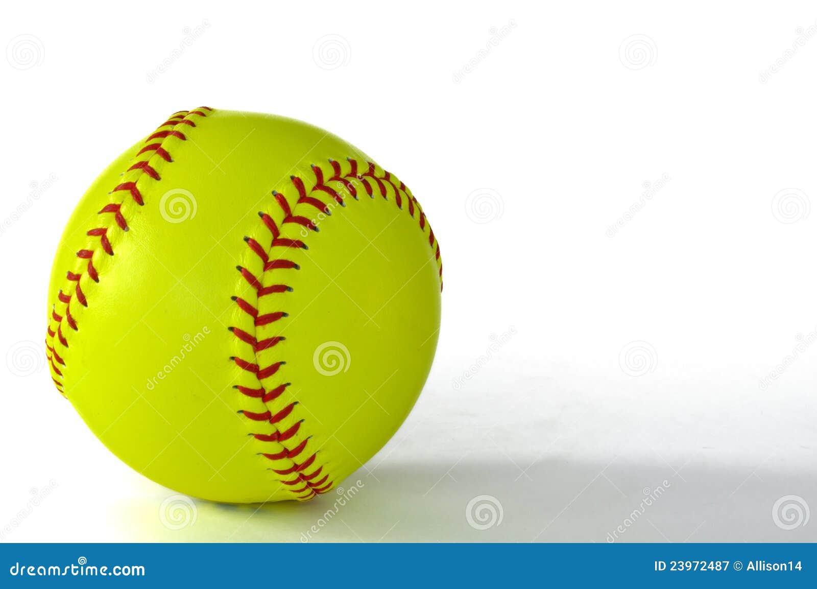 Yellow Softball Royalty Free Stock Photography - Image: 23972487
