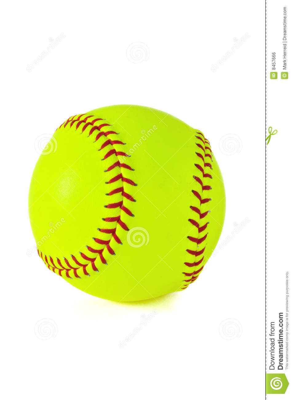 Yellow Softball