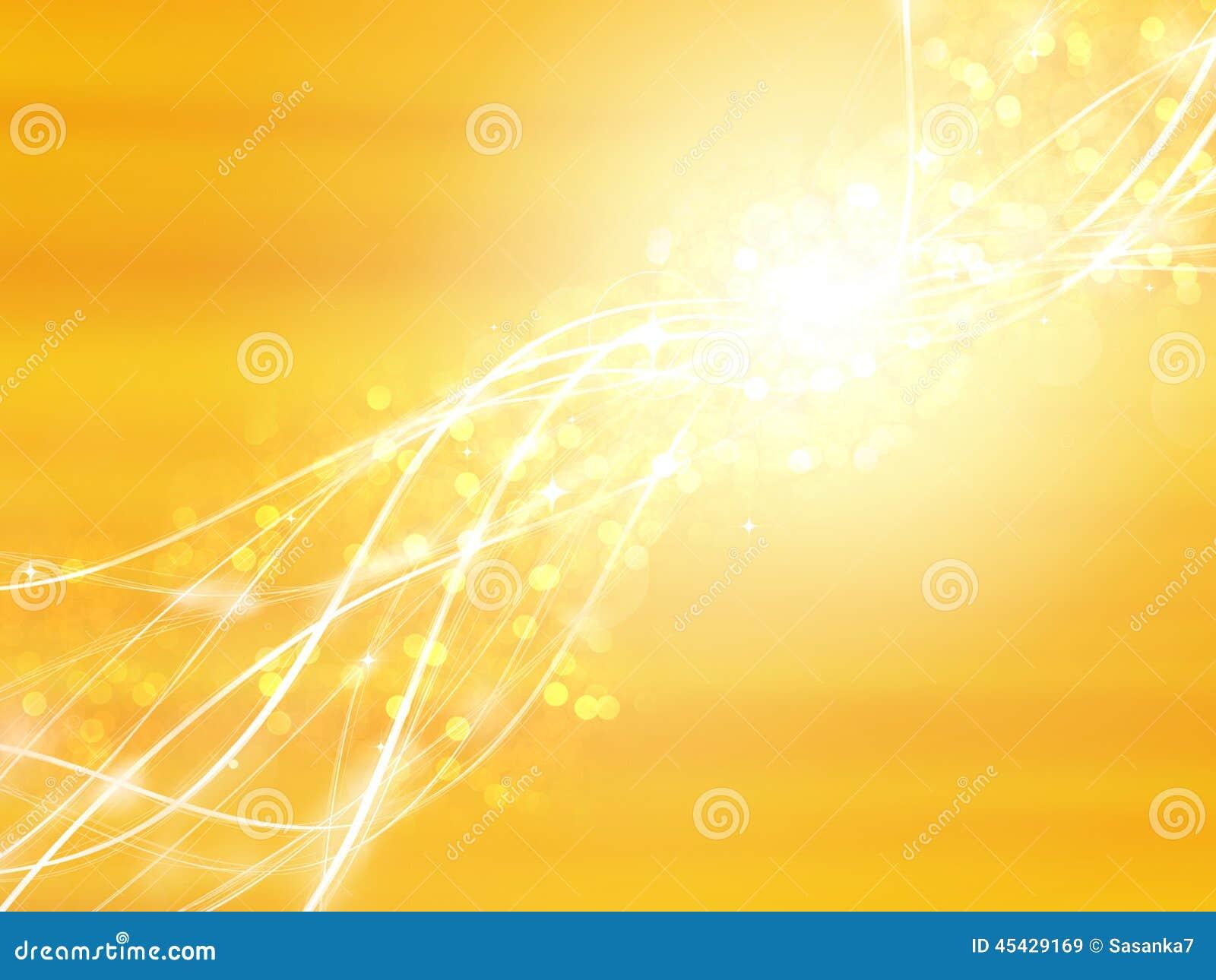yellow sparkling background stock illustration image