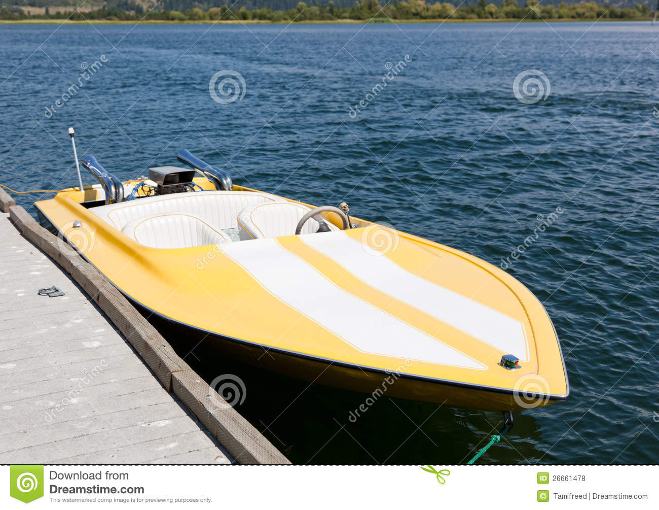 Yellow Speed Boat Royalty Free Stock Photos - Image: 26661478