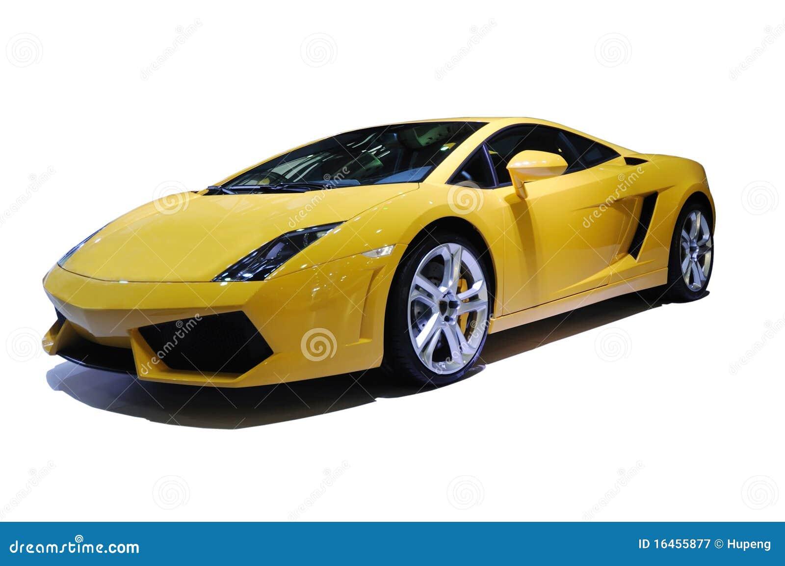 Yellow Sport Car Stock Image Image Of Gallardo Driving 16455877