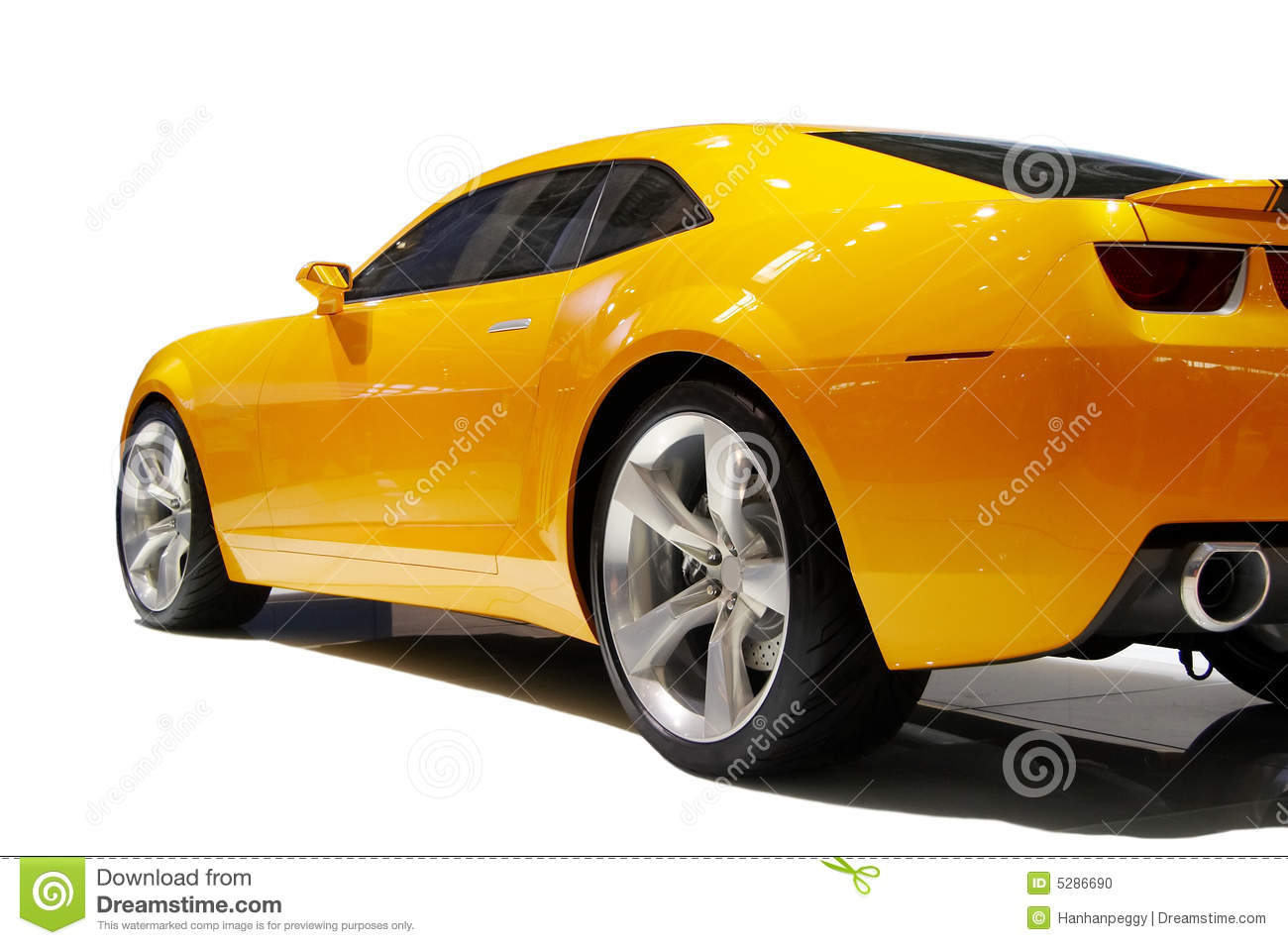 yellow sports car stock photo image 5286690