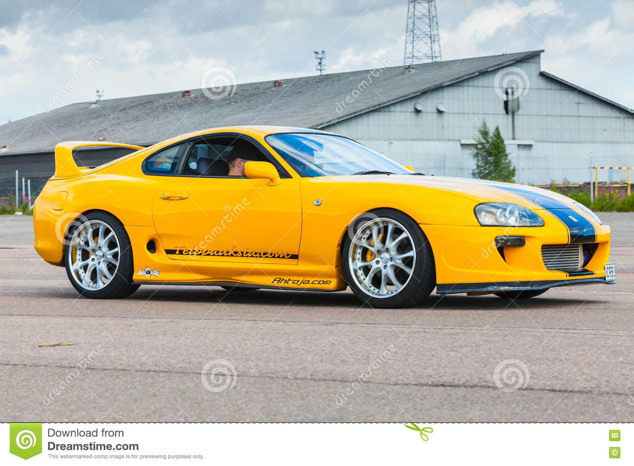 Yellow Sporty Toyota Supra A80 Editorial Photography Image Of