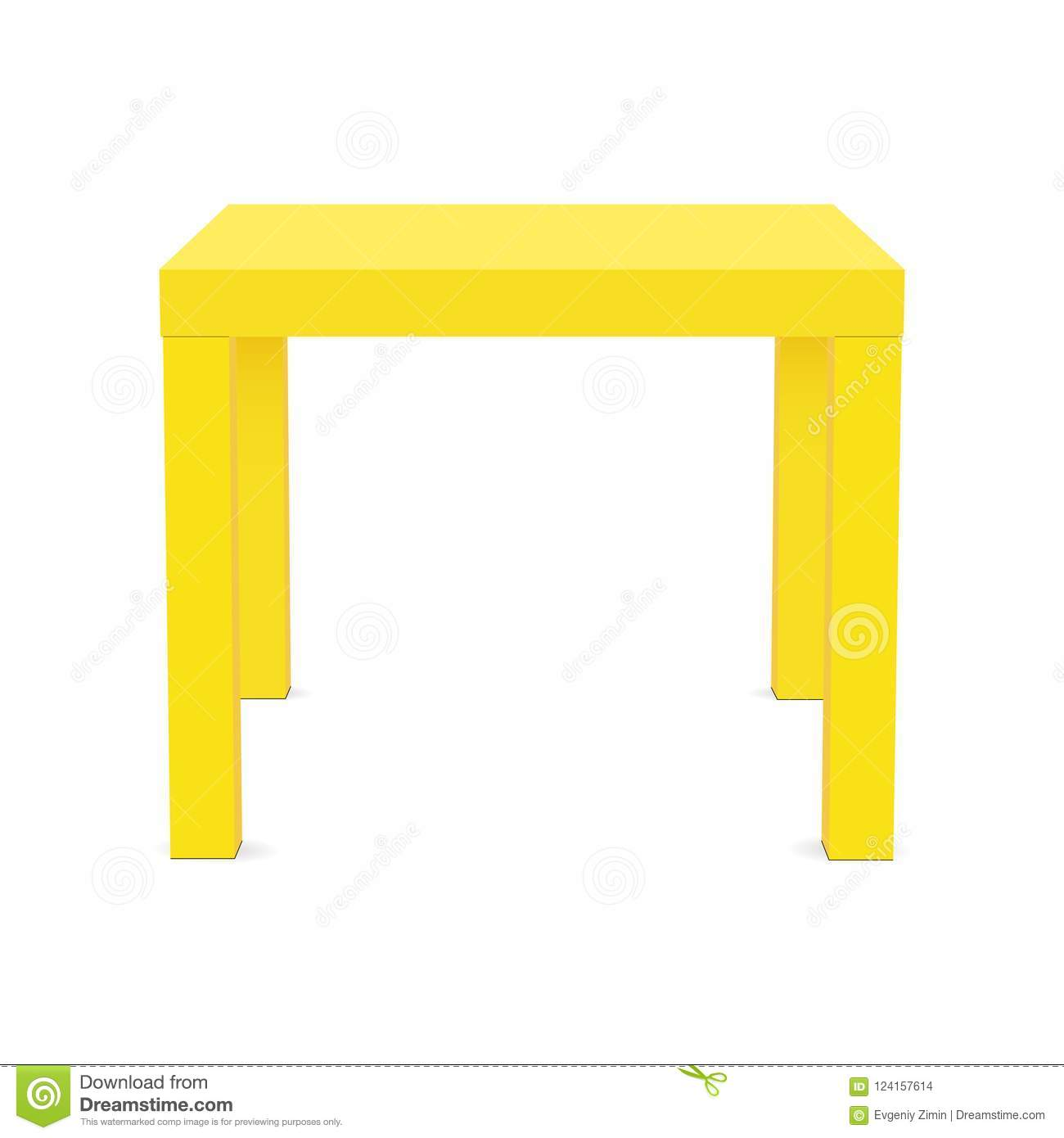 square table top view. Download Yellow Square Table Mock Up Isolated Stock Vector - Illustration  Of Tabletop, Front: Square Table Top View