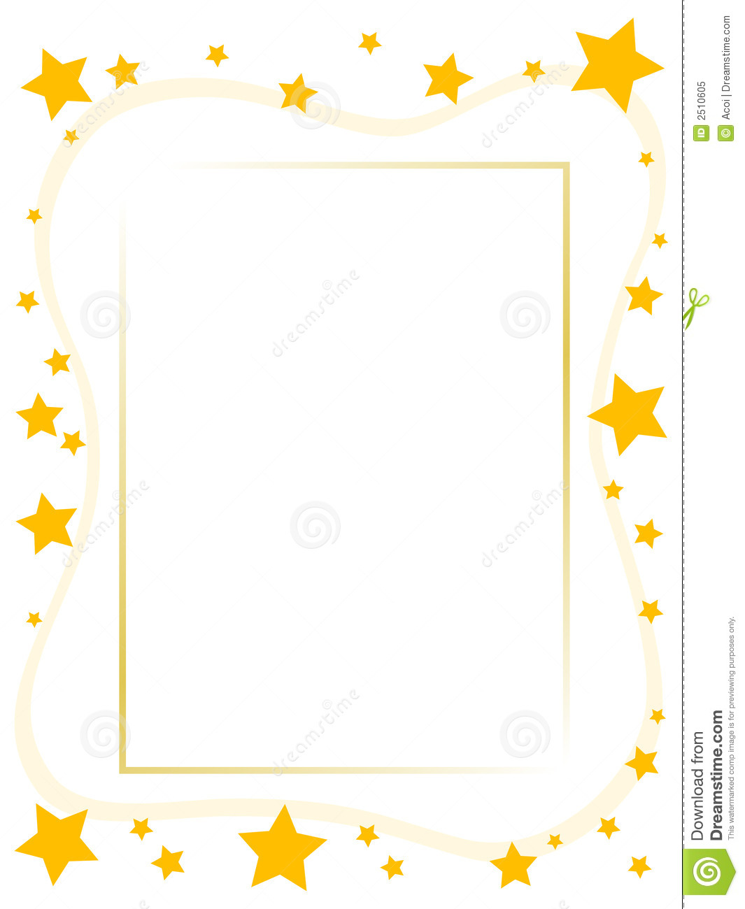 Yellow Star Frame Royalty Free Stock Photo - Image: 2510605