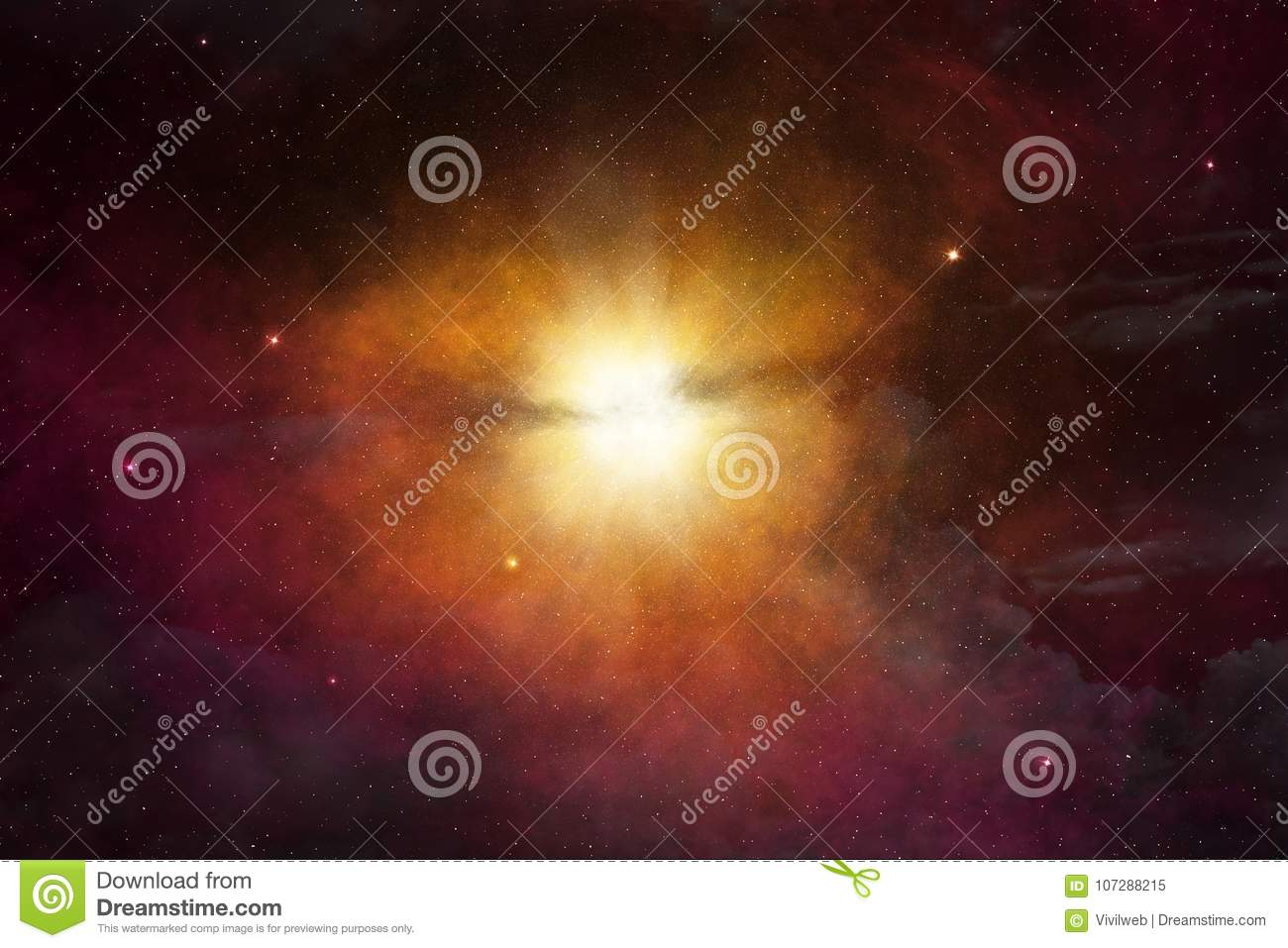 Star light glowing in space