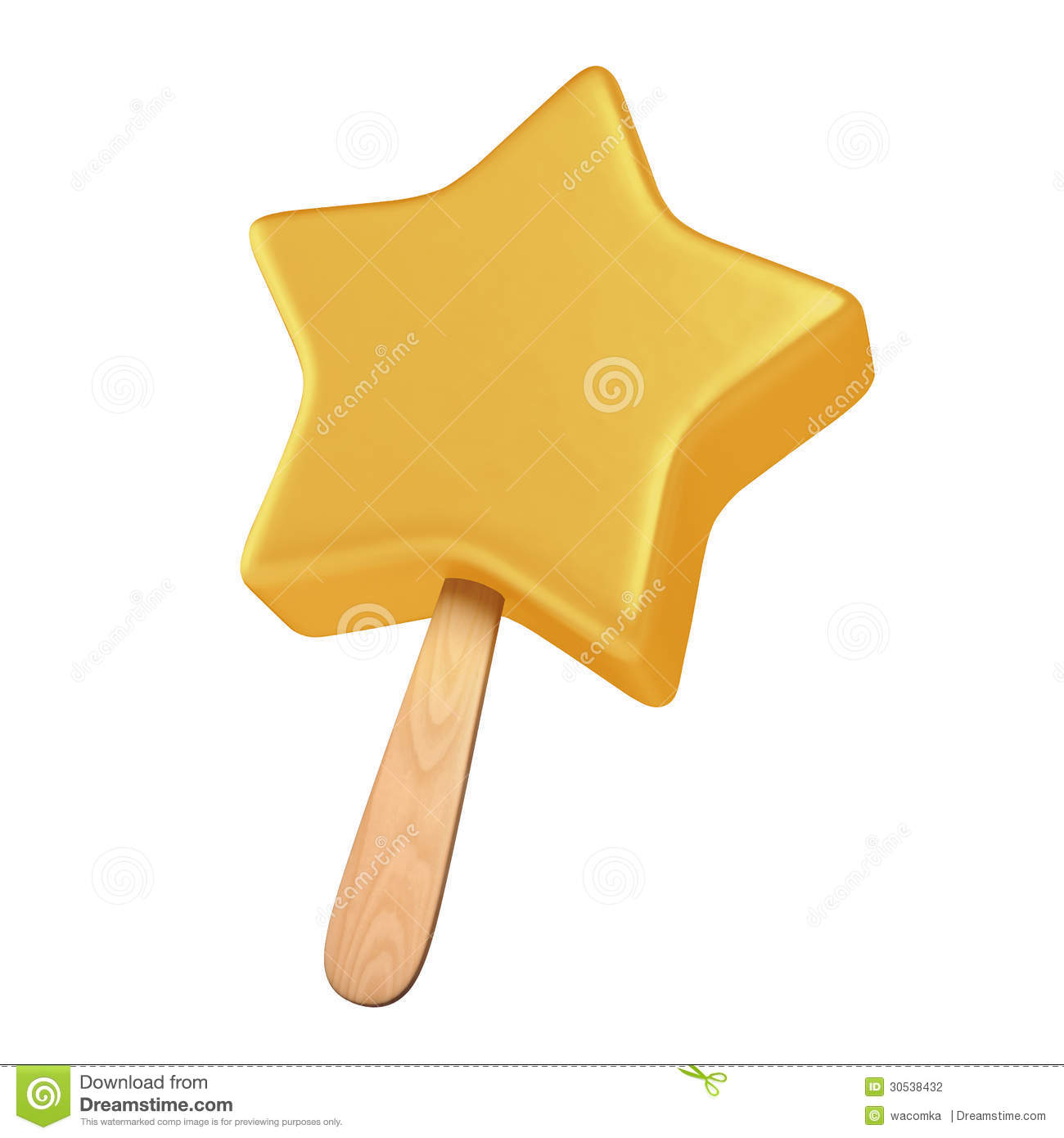 Yellow Star Shaped Ice Cream Stock Photography - Image: 30538432