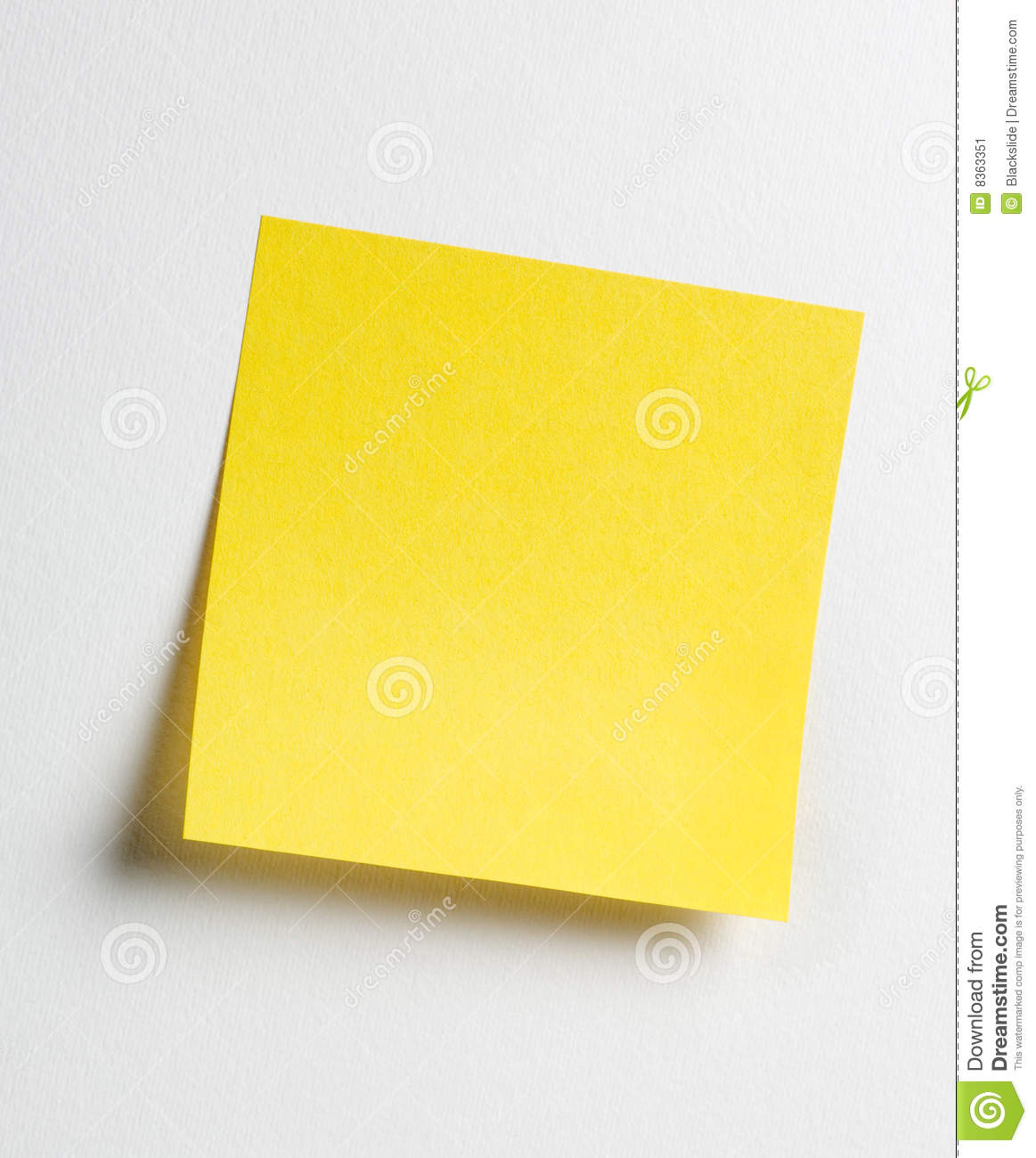 yellow sticky note stock image  image of notice  sticky