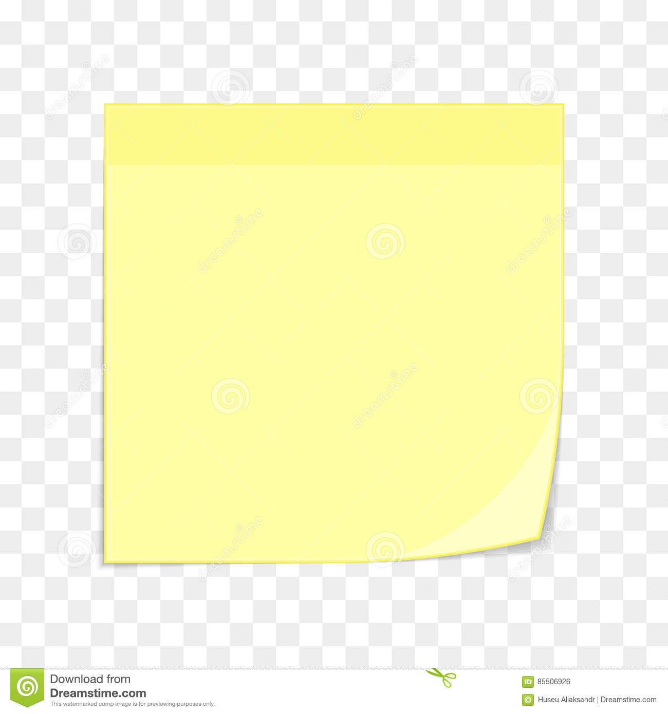 ... Sticky Note Template By Yellow Sticky Note On Transparent Stock Vector  Image ... Idea