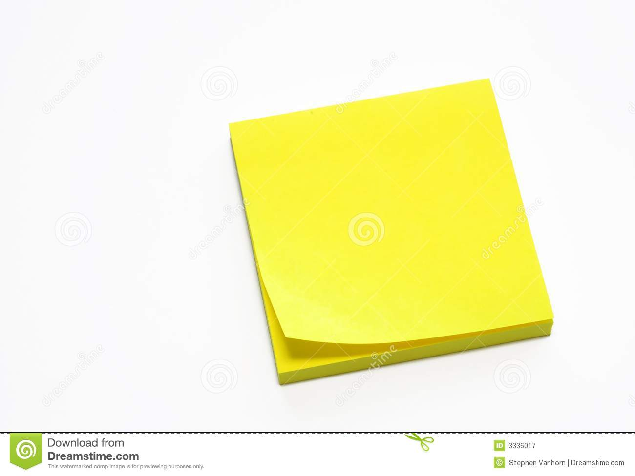 Yellow Sticky Pad Royalty Free Stock Photography - Image: 3336017