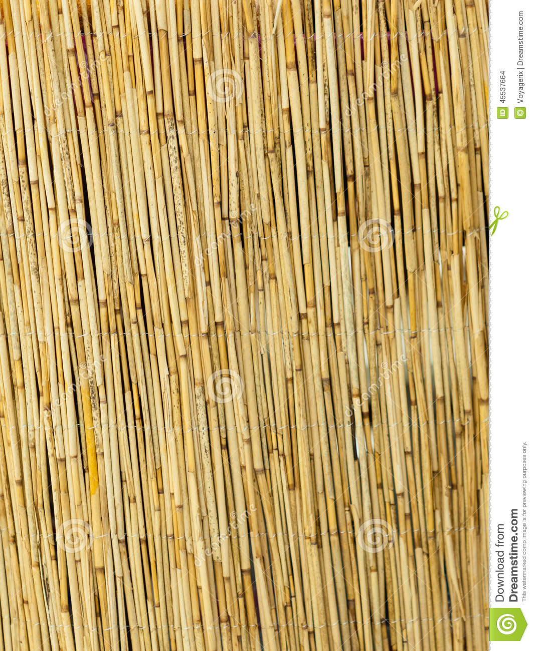 Yellow Straw Mat Surface Pattern Background Texture Stock