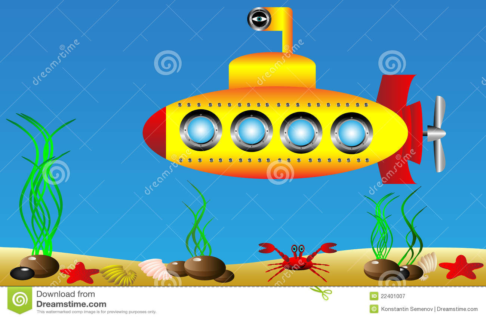 изображение подводной лодки для детей