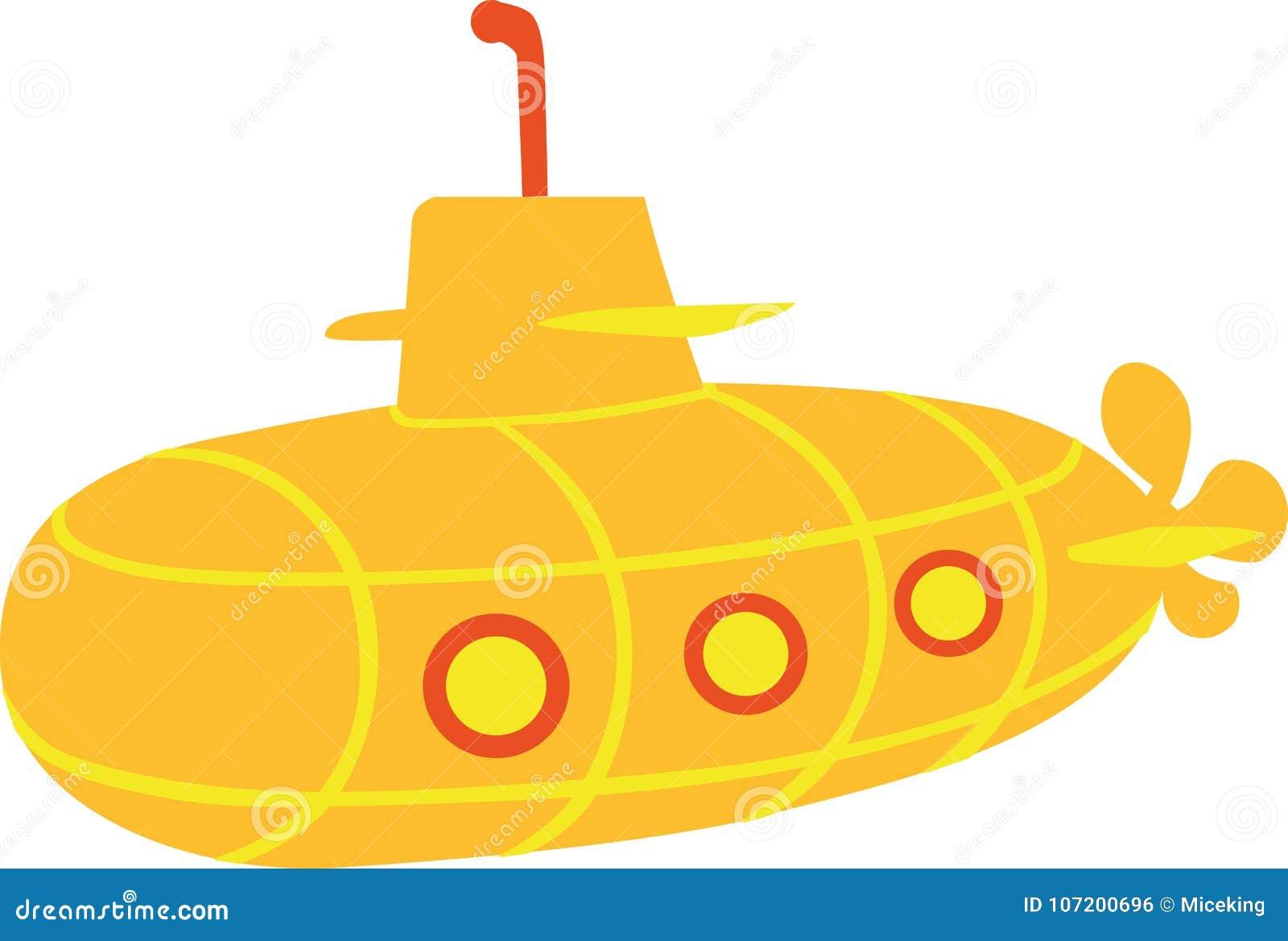 Yellow Submarine Stock Illustrations – 618 Yellow ...