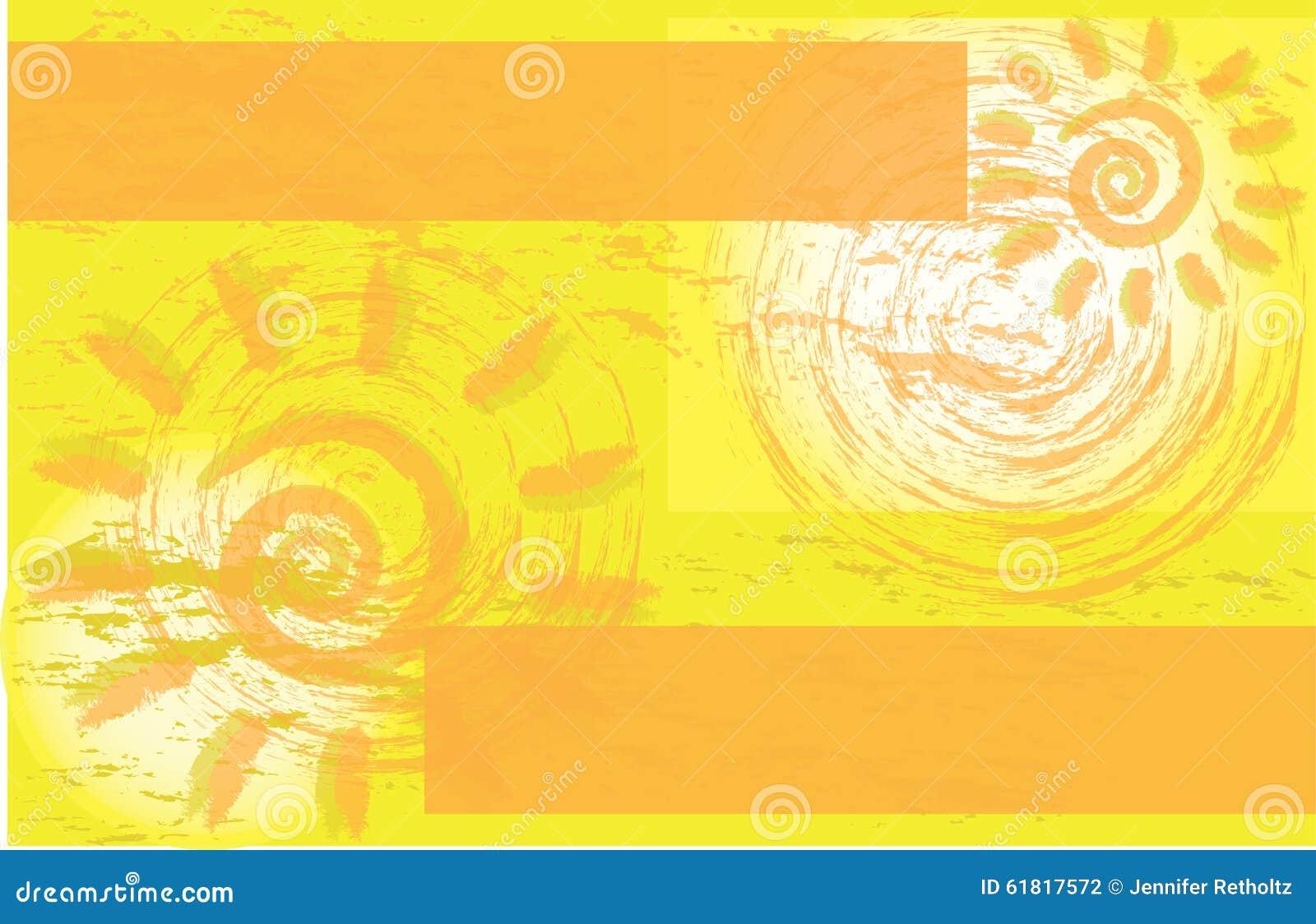 yellow sun corporate event flyer brochure stock
