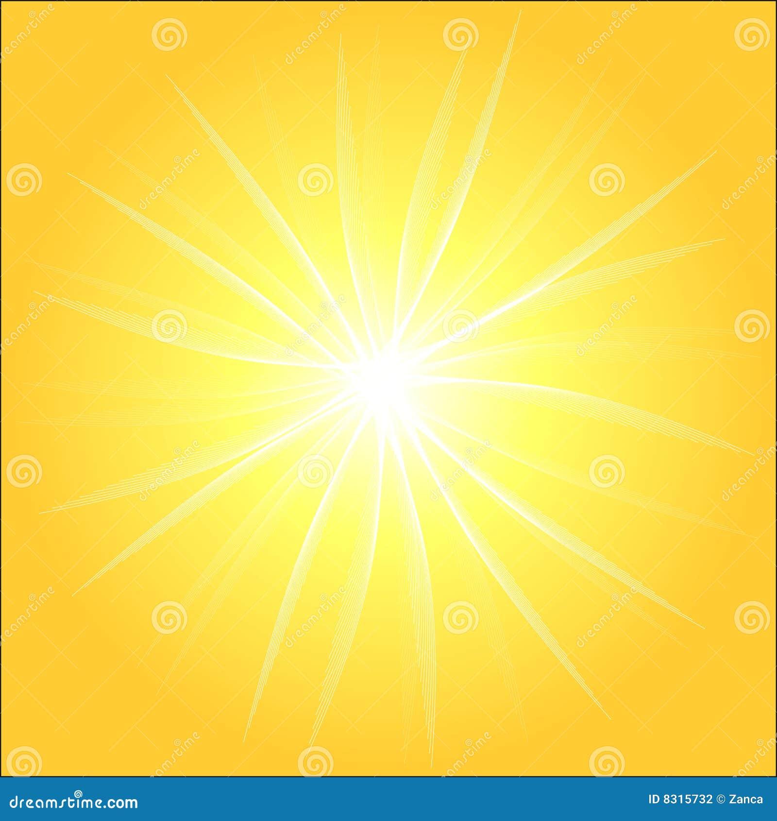 Yellow Sunburst Background Stock Photography - Image: 8315732