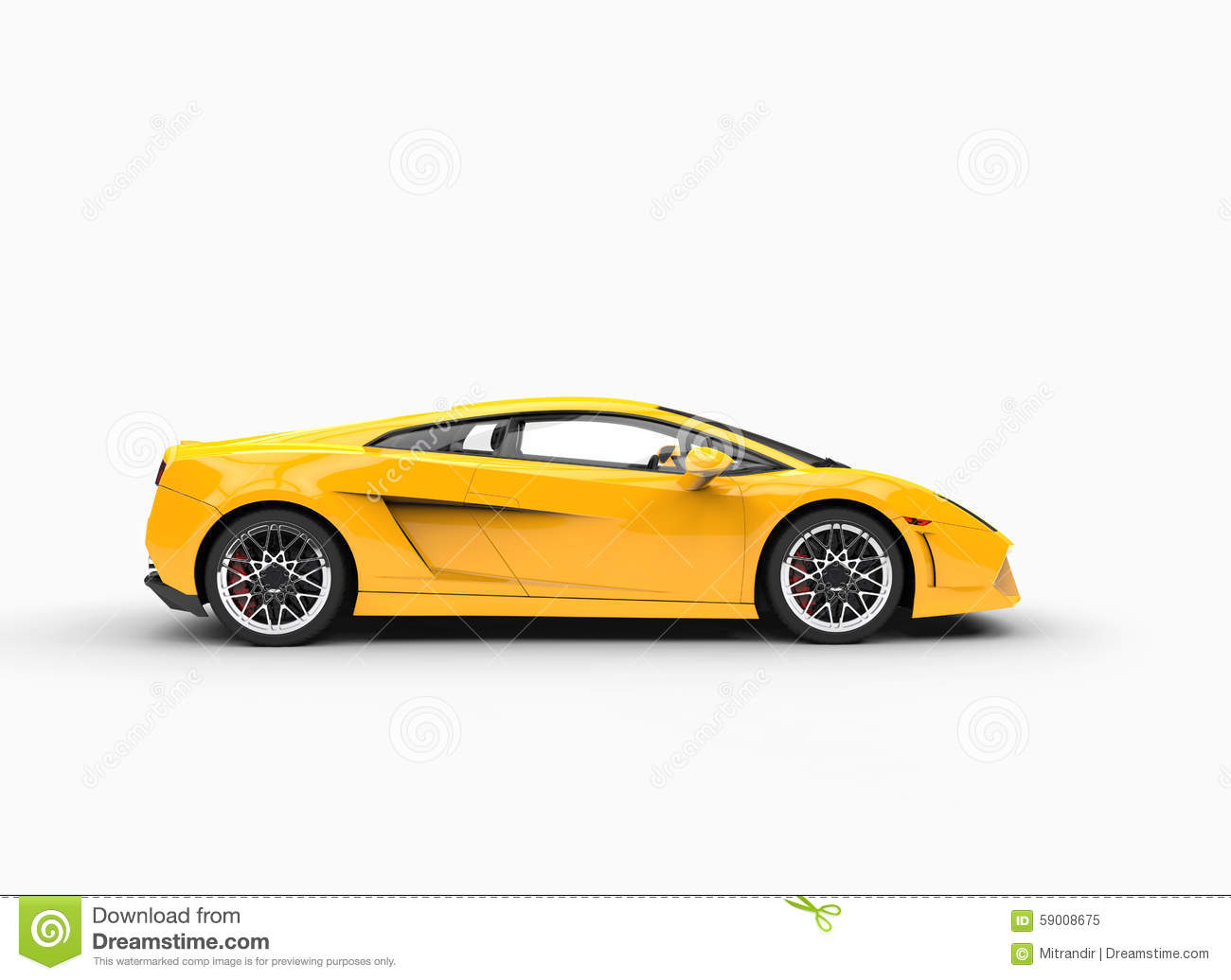 yellow supercar side view stock photo image 59008675