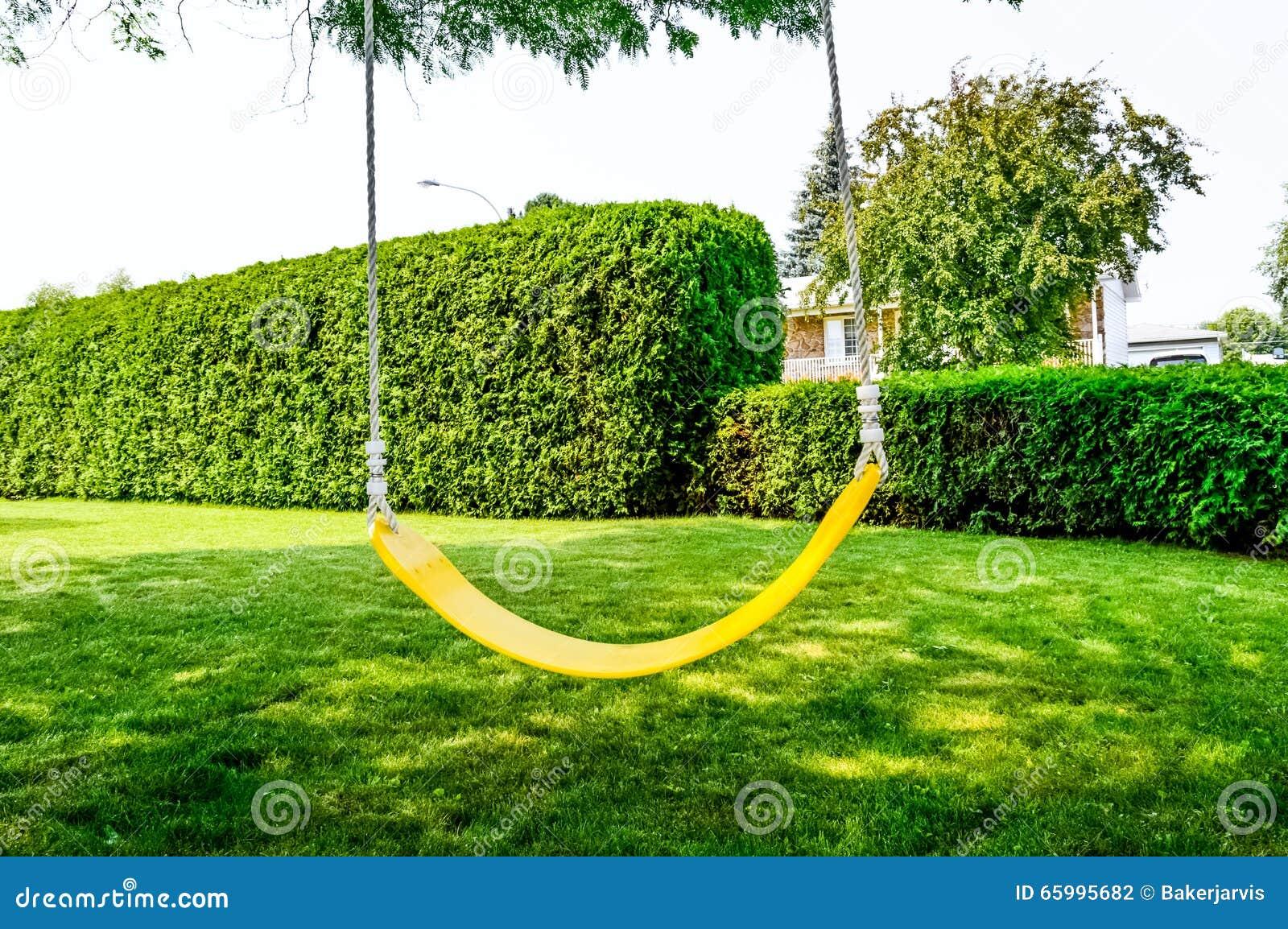 Yellow swing in village stock photo image 65995682 for Swingvillage