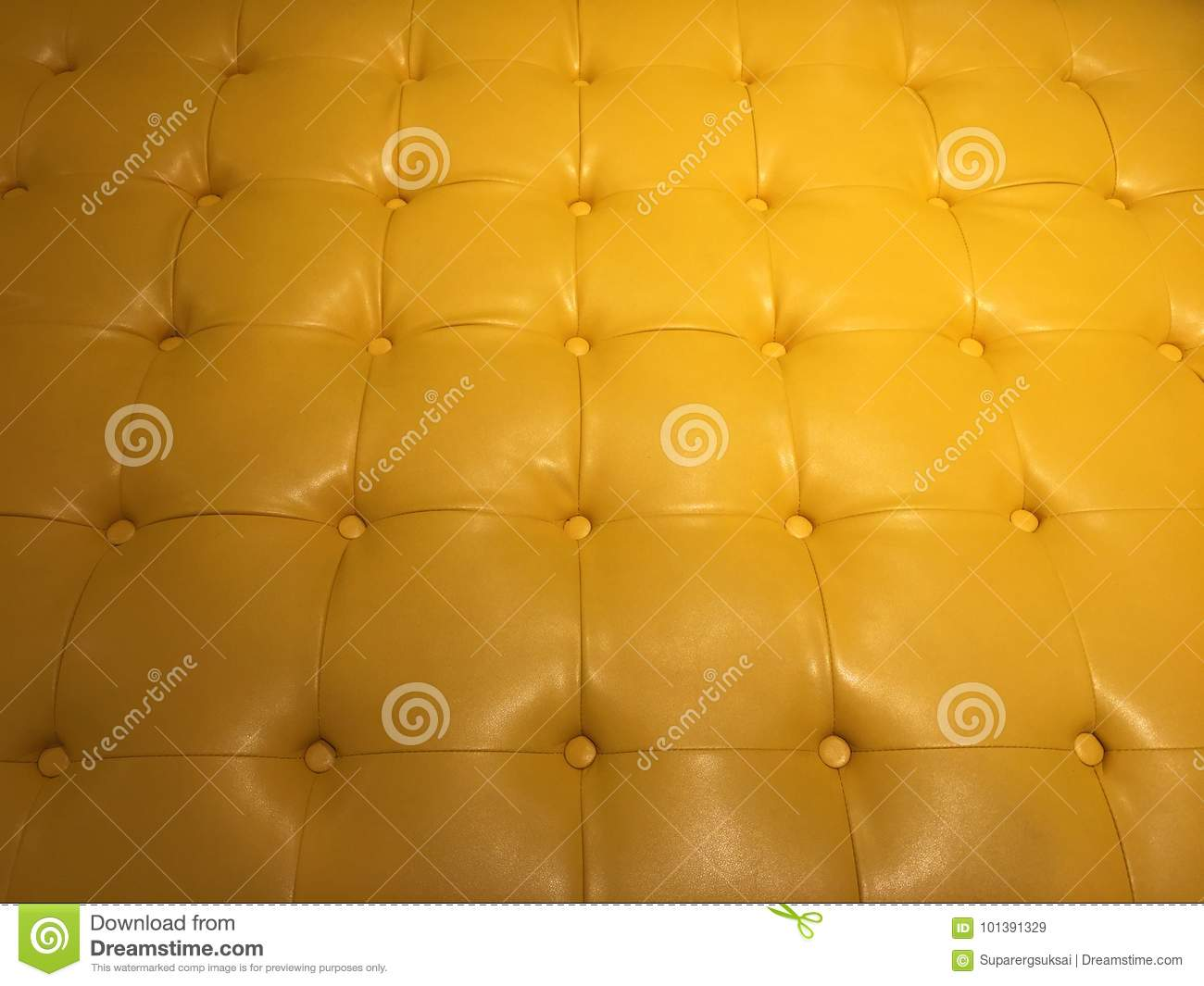 Yellow Synthetic Leather Couch Stock Illustration - Image: 101391329