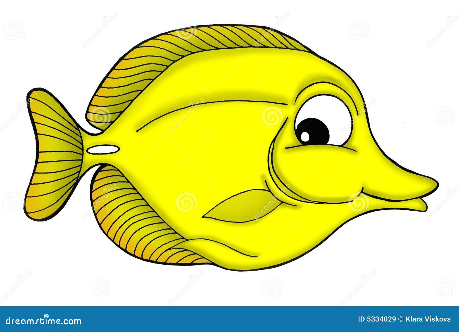 Yellow Fish Clip Art Yellow Tang Fish Royal...